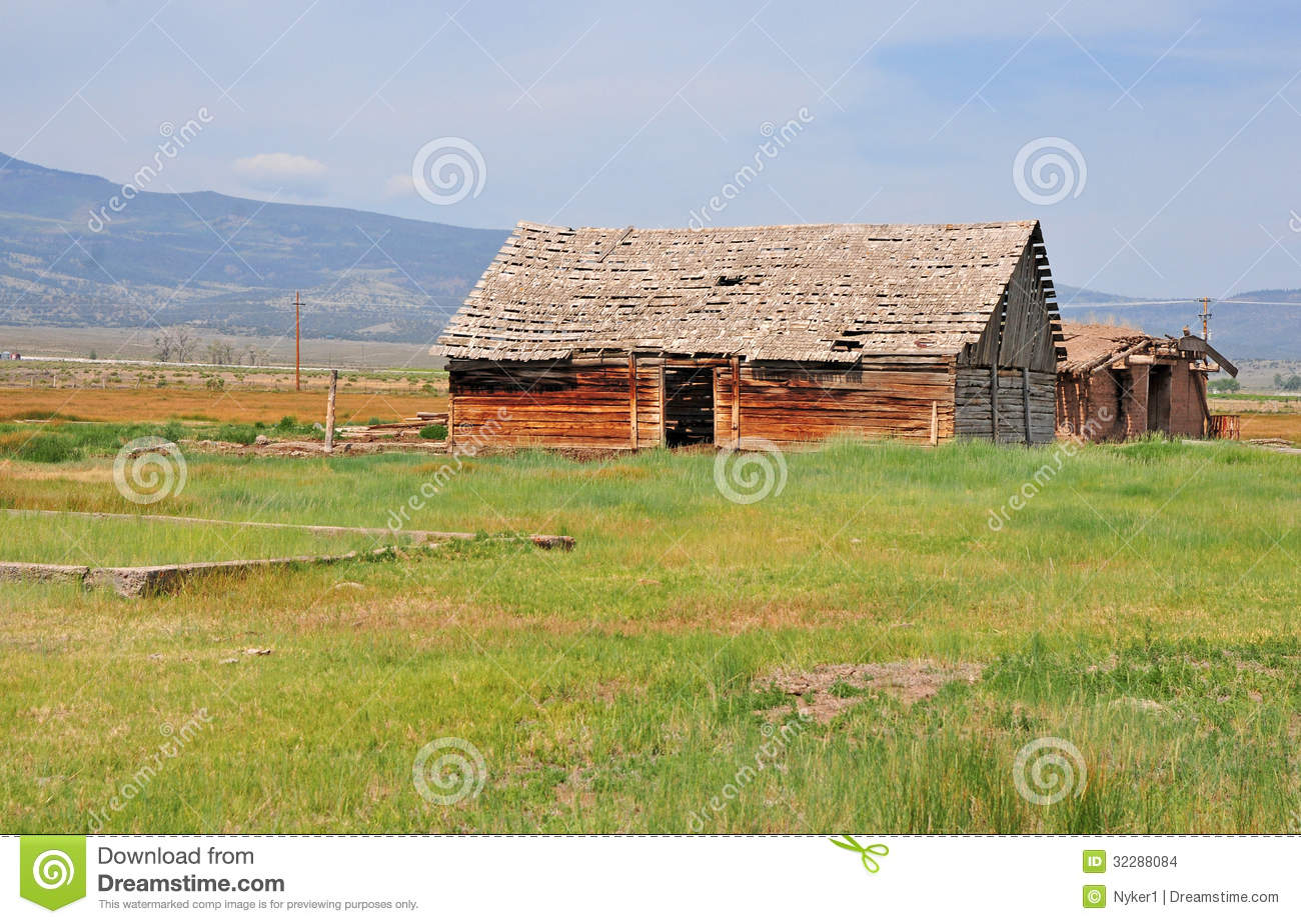 Farm House, American West Stock Images - Image: 32288084