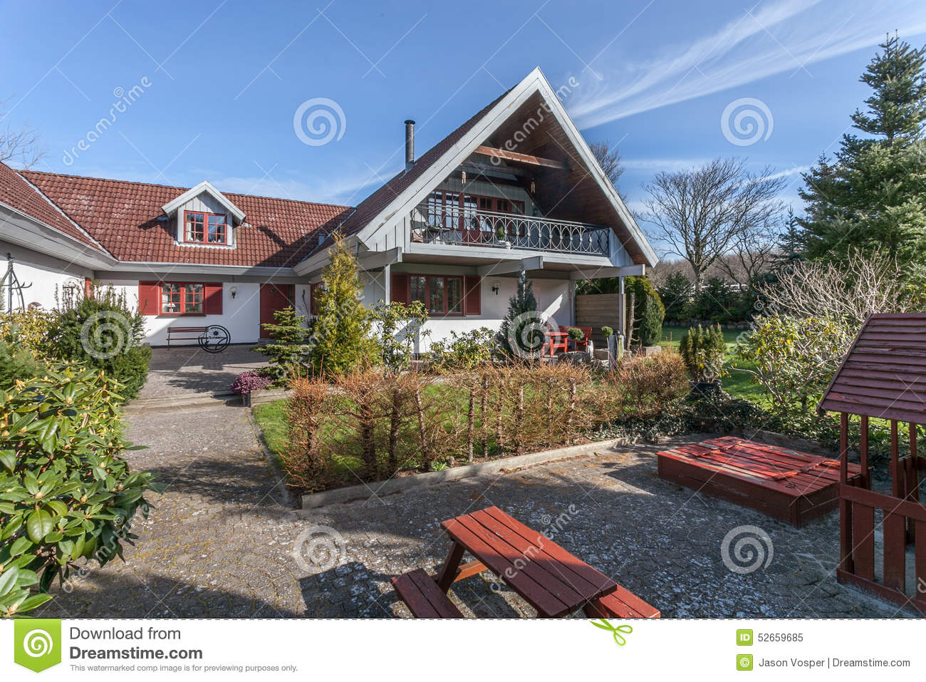 Farm house in denmark stock photo image 52659685 for Danish terrace