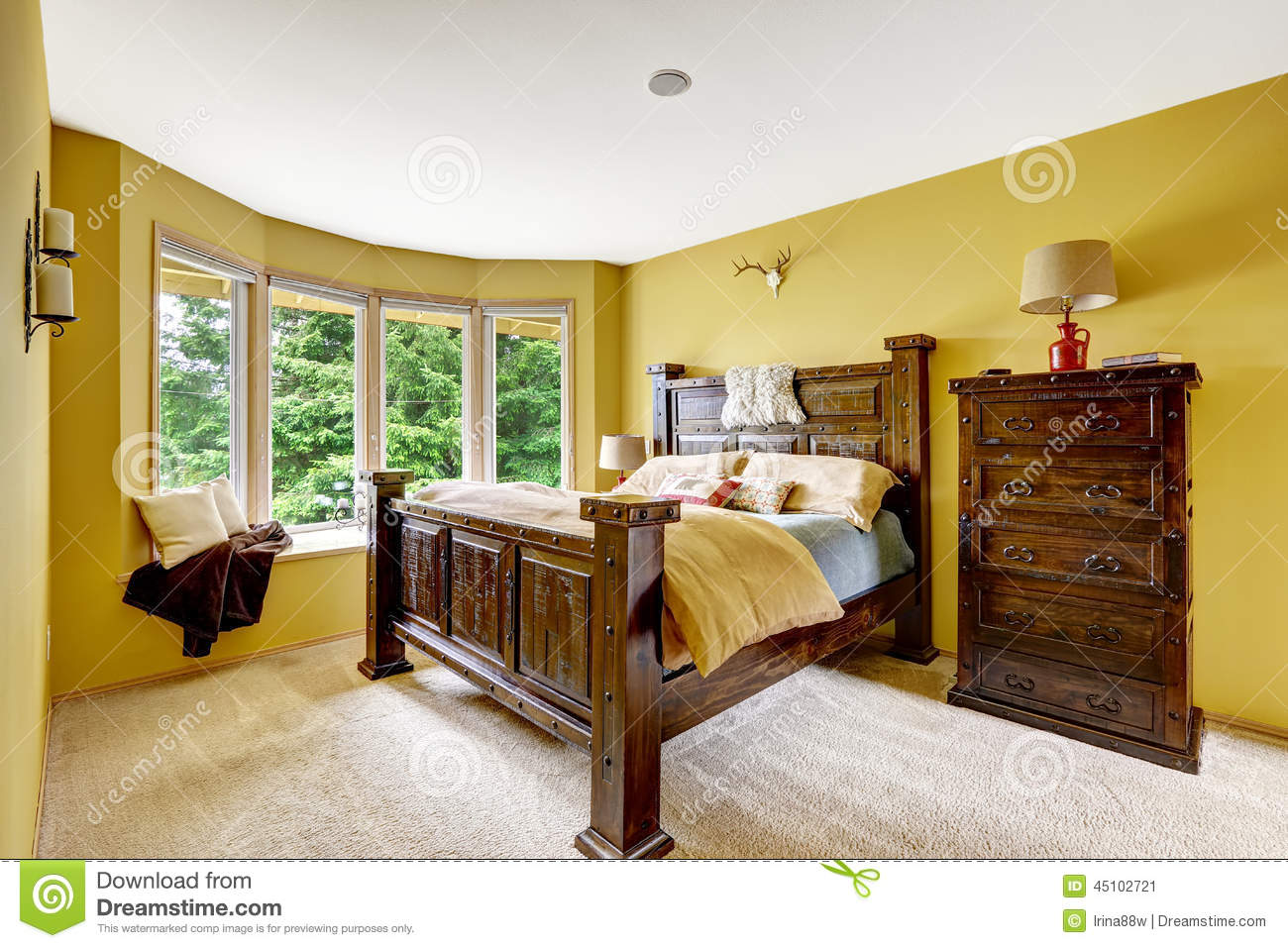 Farm House Interior Luxury Bedroom Interior With Rich