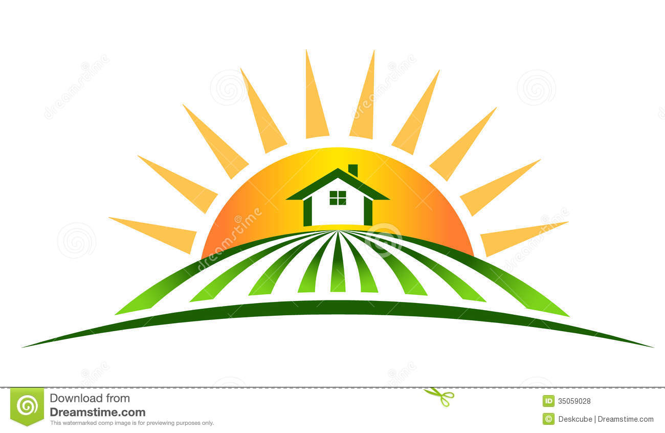 farm house with sun stock vector illustration of farming corn field clipart black and white Corn Stalk Clip Art