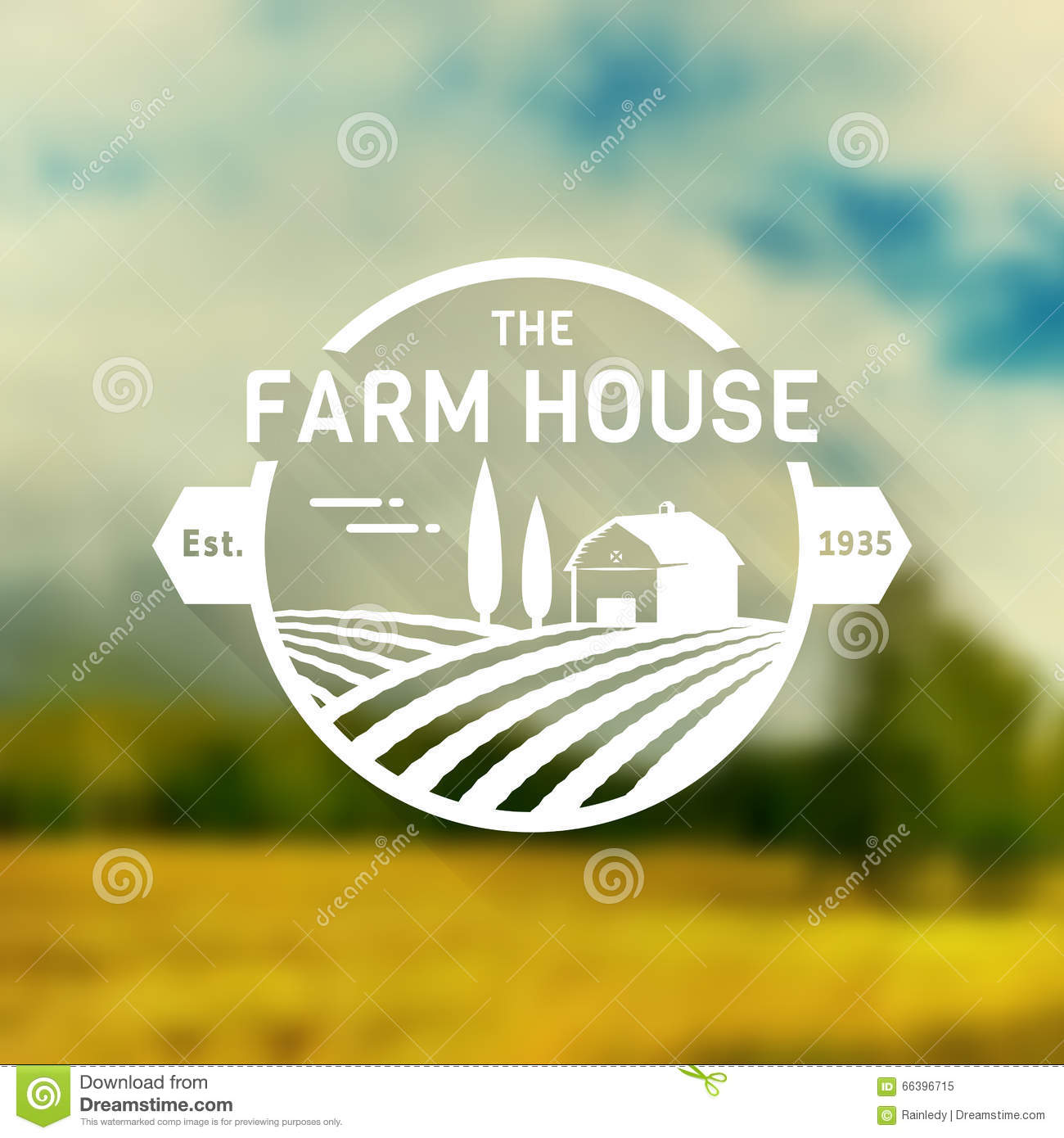 Farm House Vector Logo Stock Vector Image 66396715