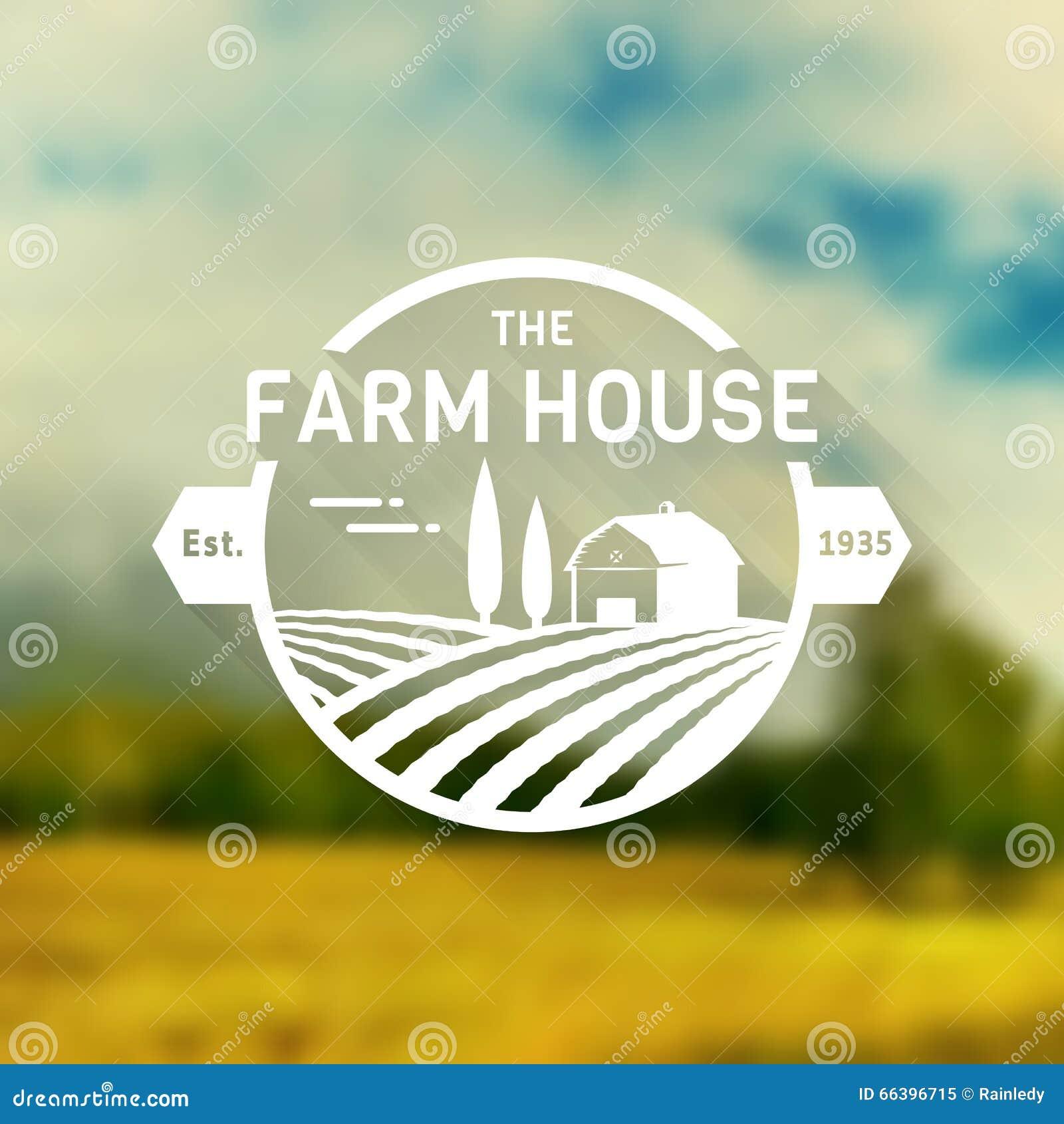 Farm house vector logo stock vector image 66396715 - Produit la bel lande ...
