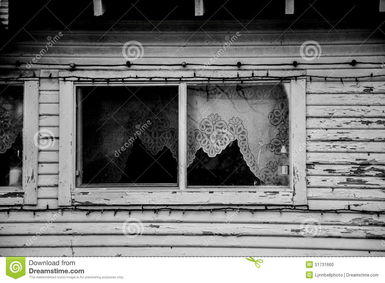Royalty Free Stock Photo. Download Farm House Window Lace Curtains ...