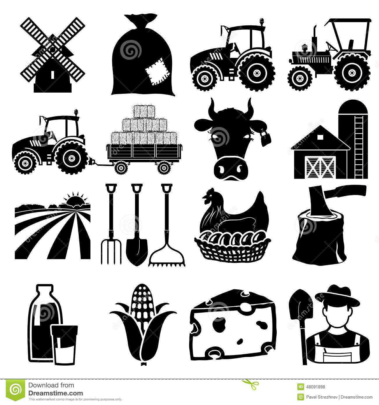 Farm Icon Stock Vector Image 48091898