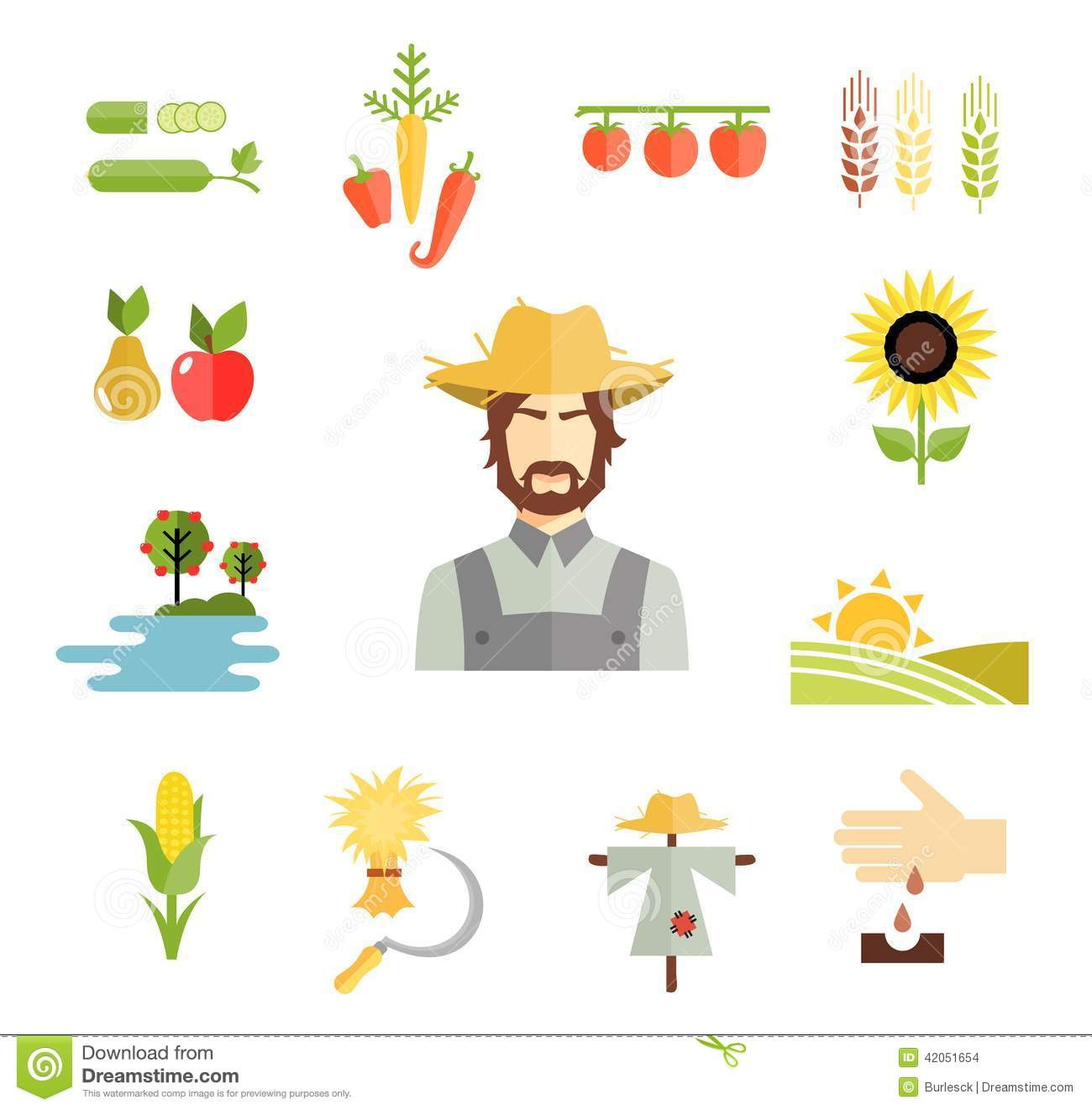farm icons for cultivating crops stock vector image Empty Farm Crop Clip Art Empty Farm Crop Clip Art