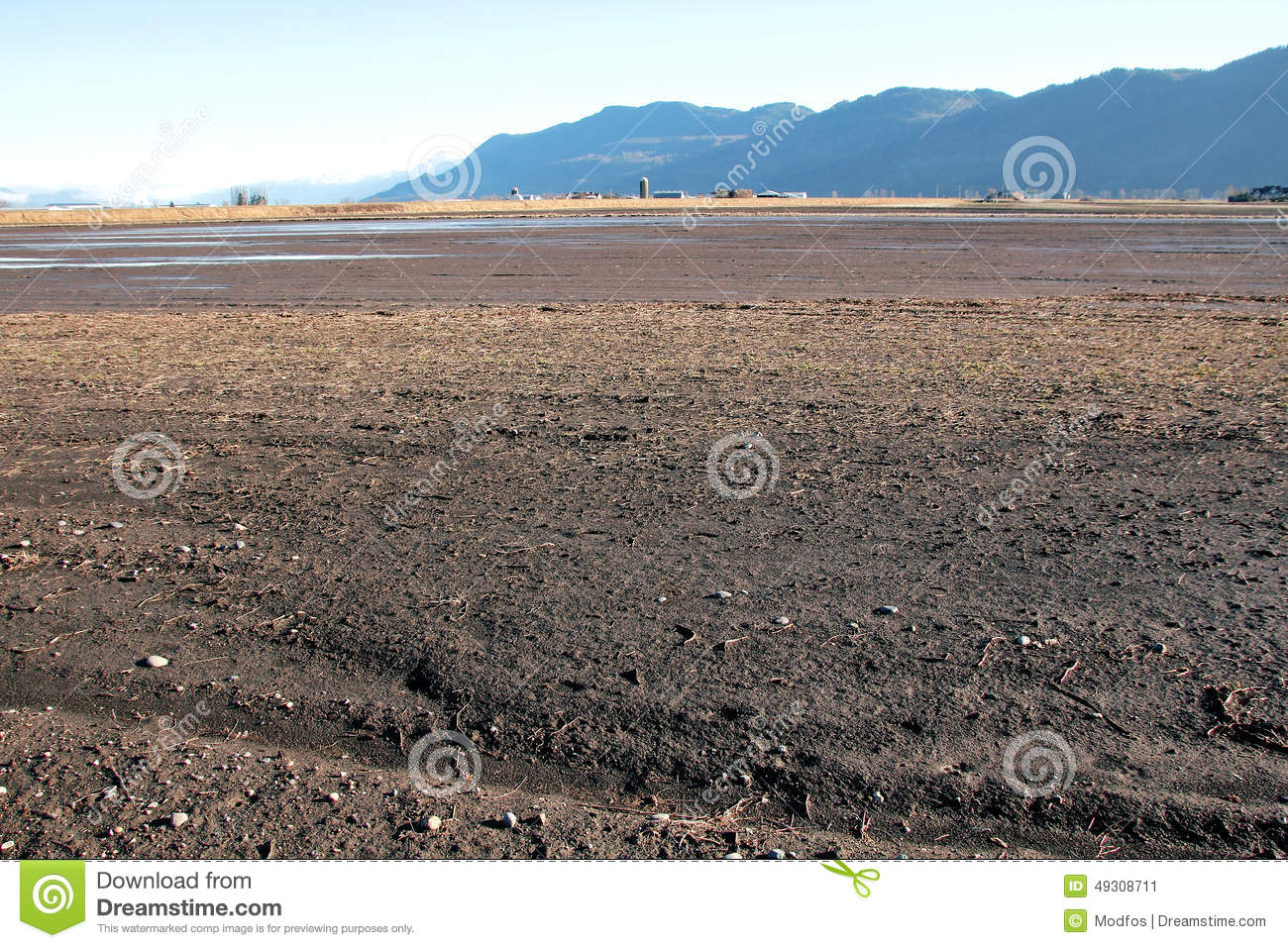 Farm land and river silt stock photo image 49308711 for What are soil minerals
