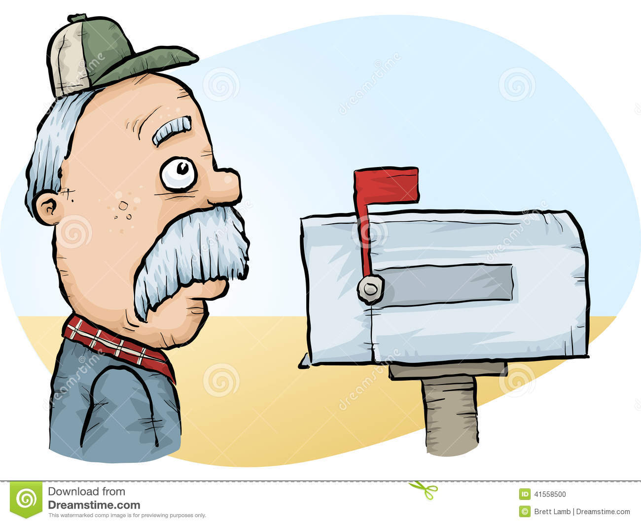 Checks By Mail >> Farm Mail Stock Illustration Illustration Of Male Alone