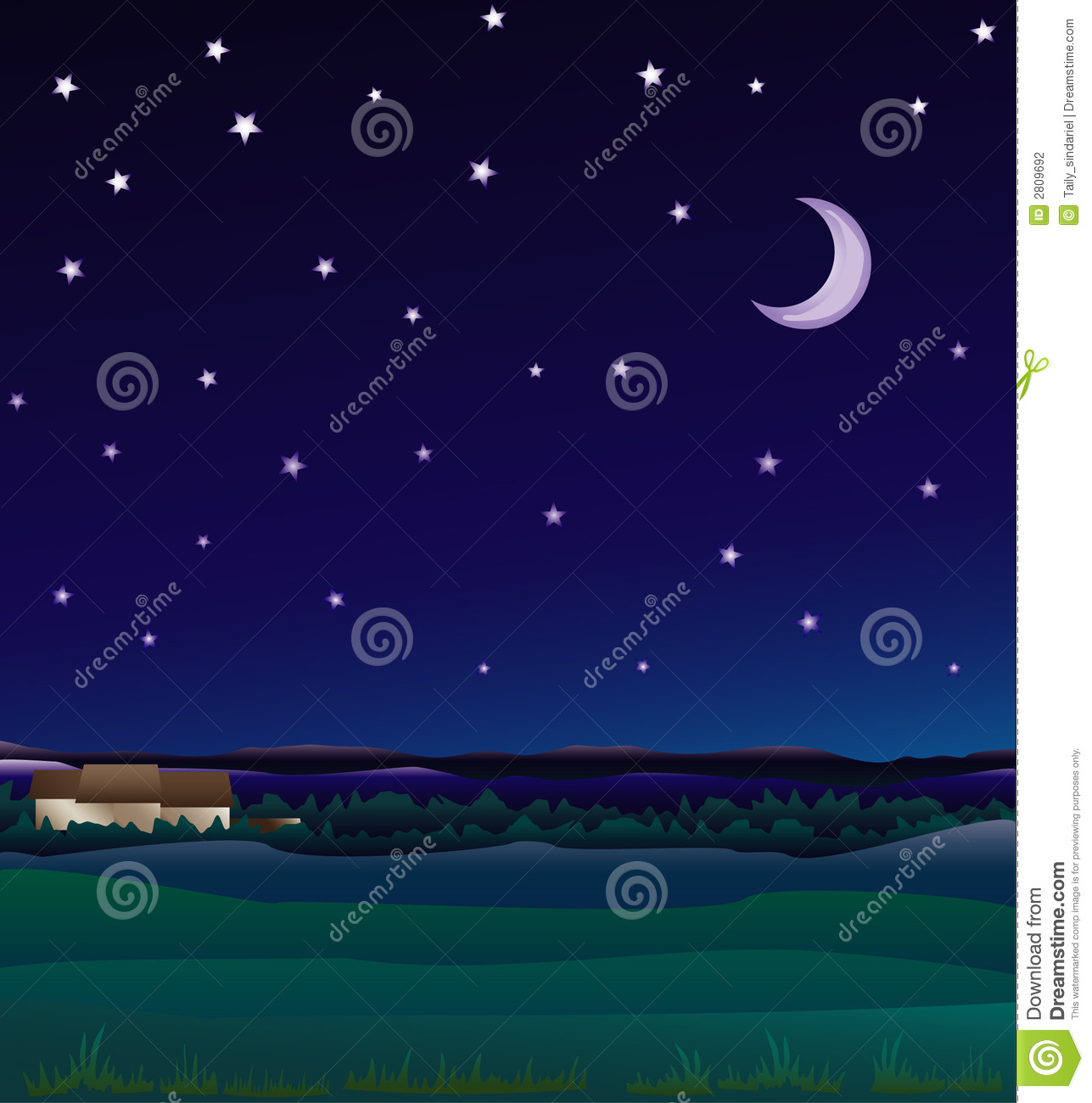 Farm Night Stock Photography Image 2809692
