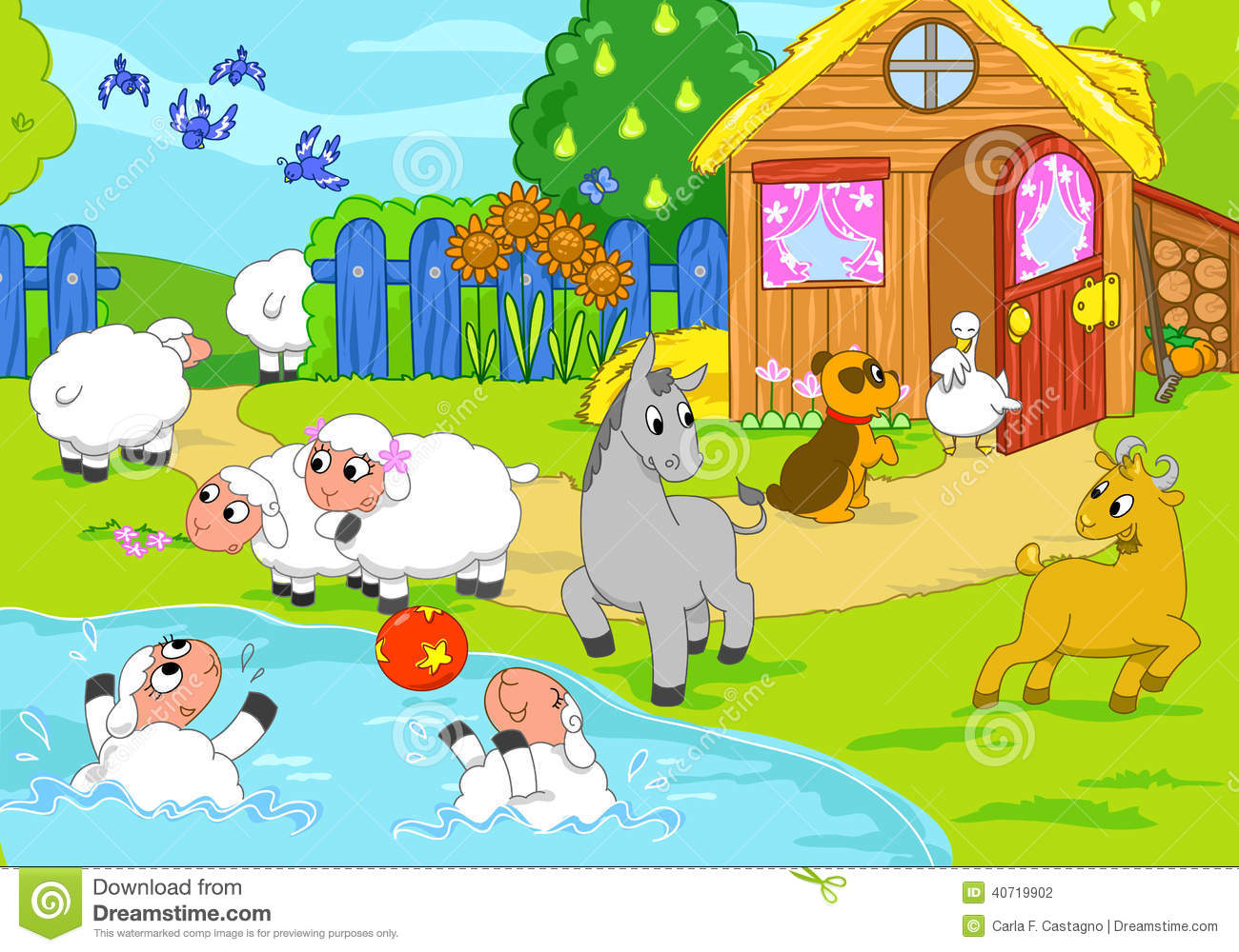farm and playing animals digital illustration stock illustration image 40719902 goose clip art spring geese clip art images