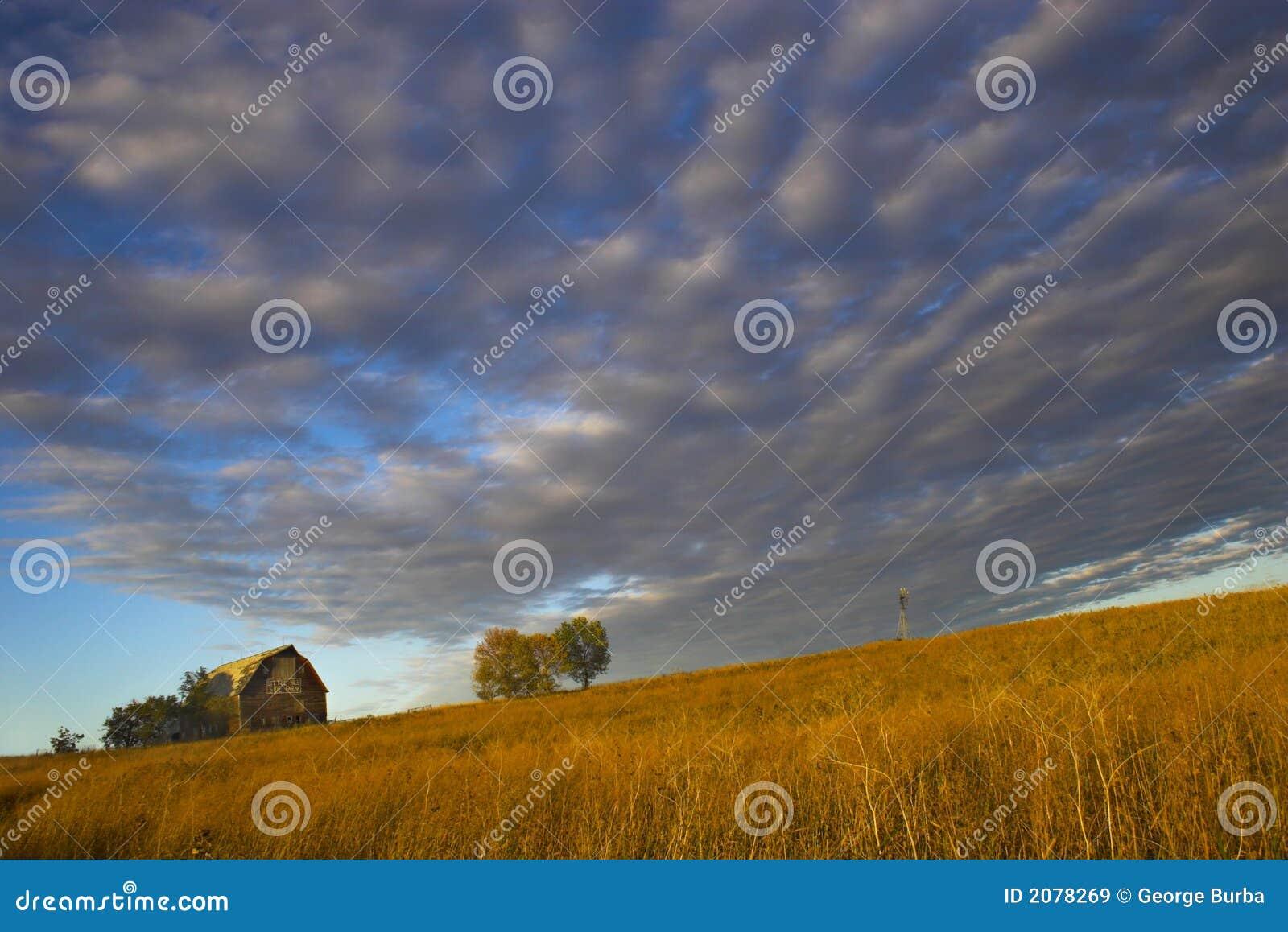 Farm with spectacular sky