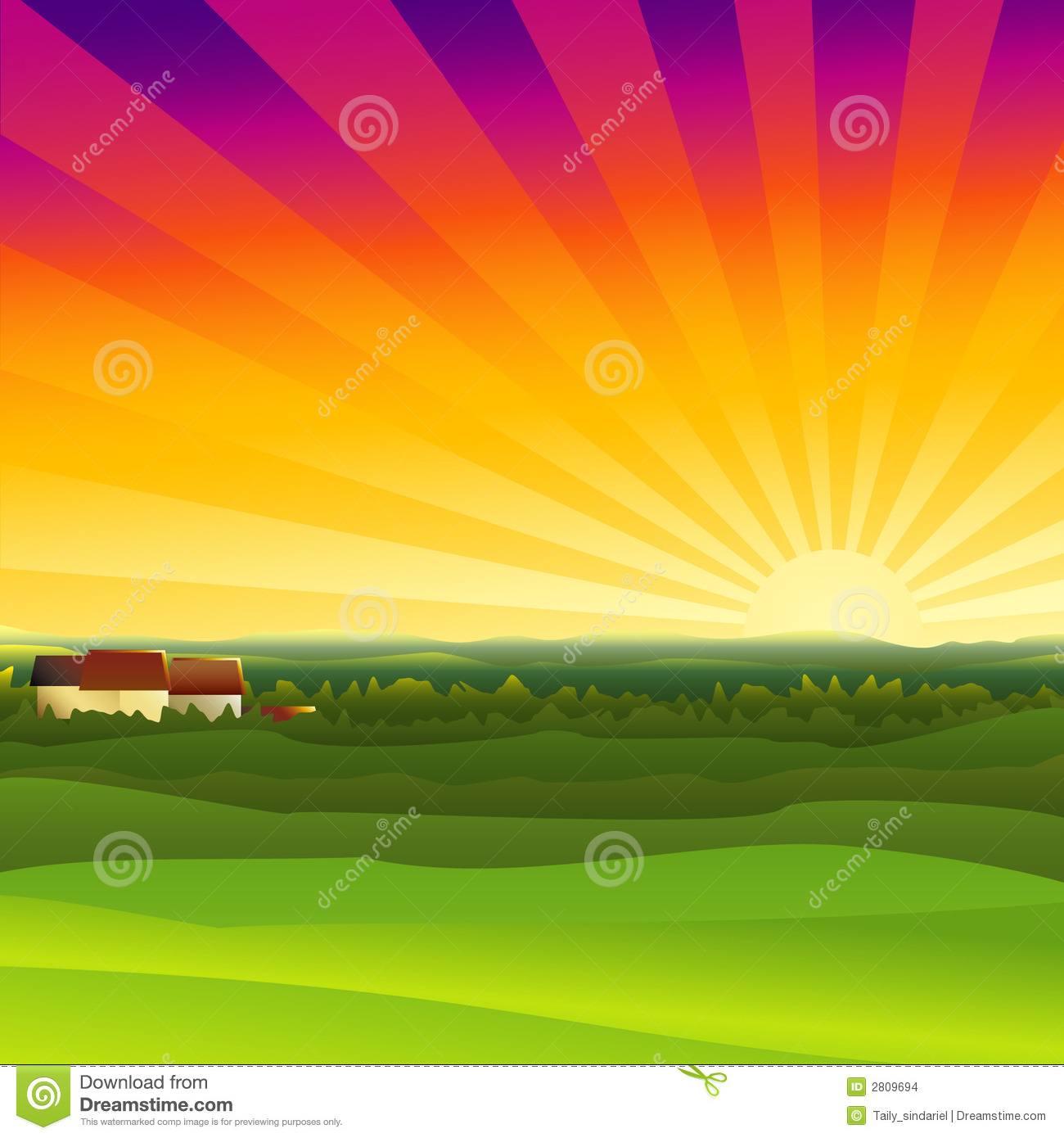 Stock Images Farm Sunset Image2809694 on Small Country House Plans