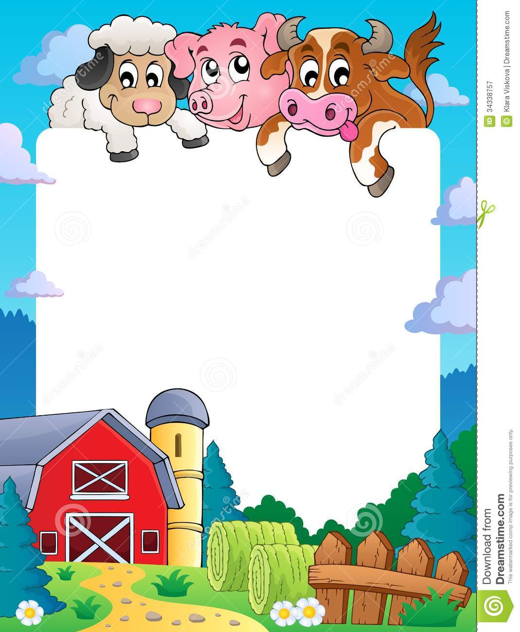 Farm Theme Frame 4 Royalty Free Stock Photography - Image: 34338757