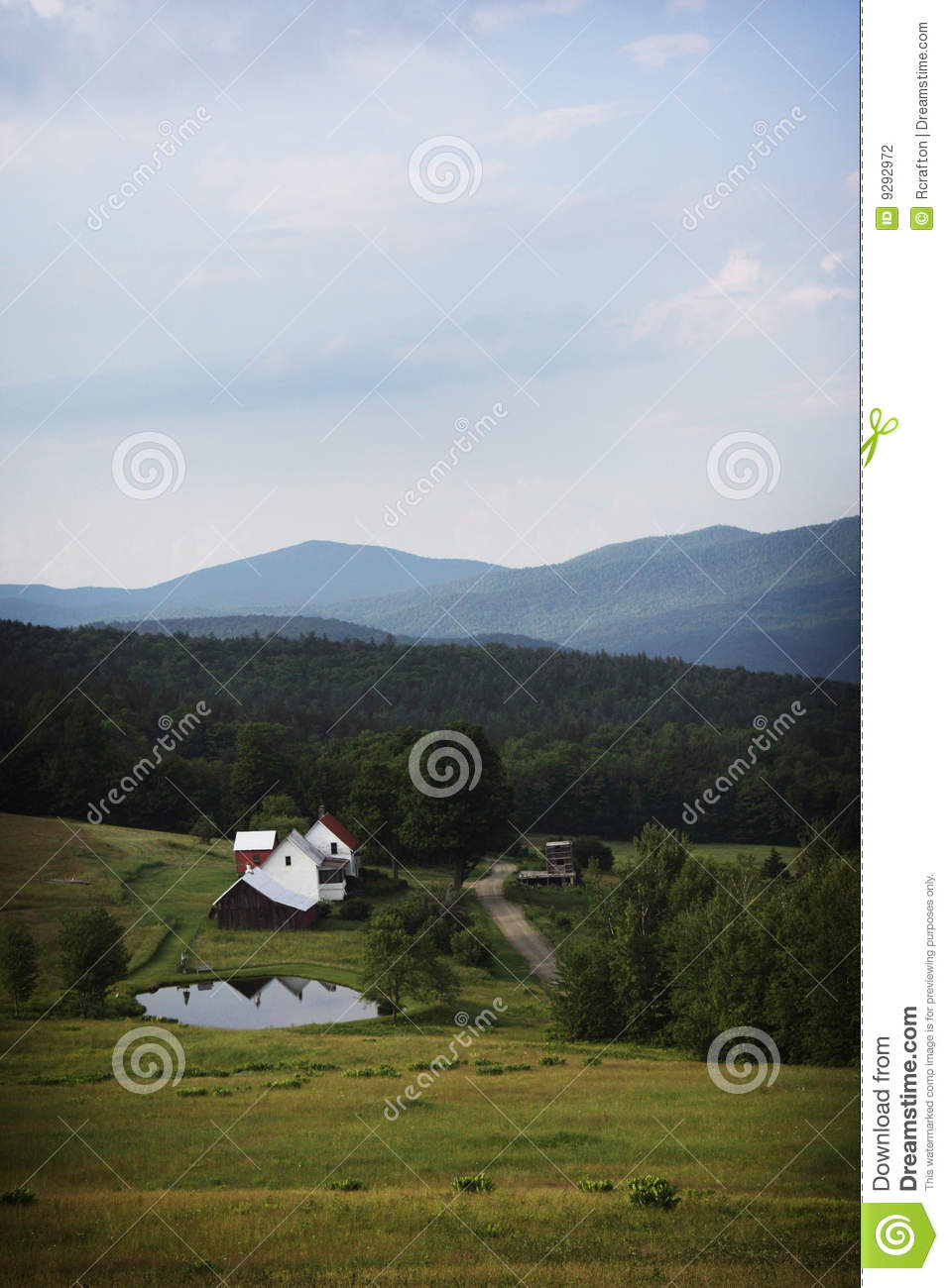 Farm In Vermont Stock graphy Image
