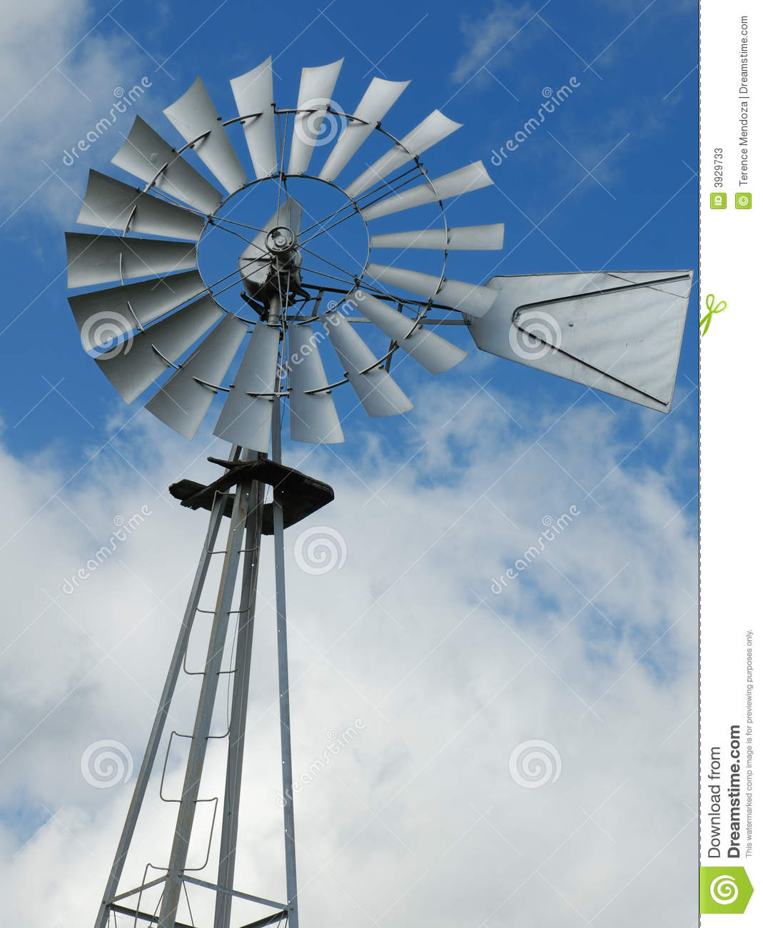 Farm Windmill Water Pump Stock Photos Image 3929733