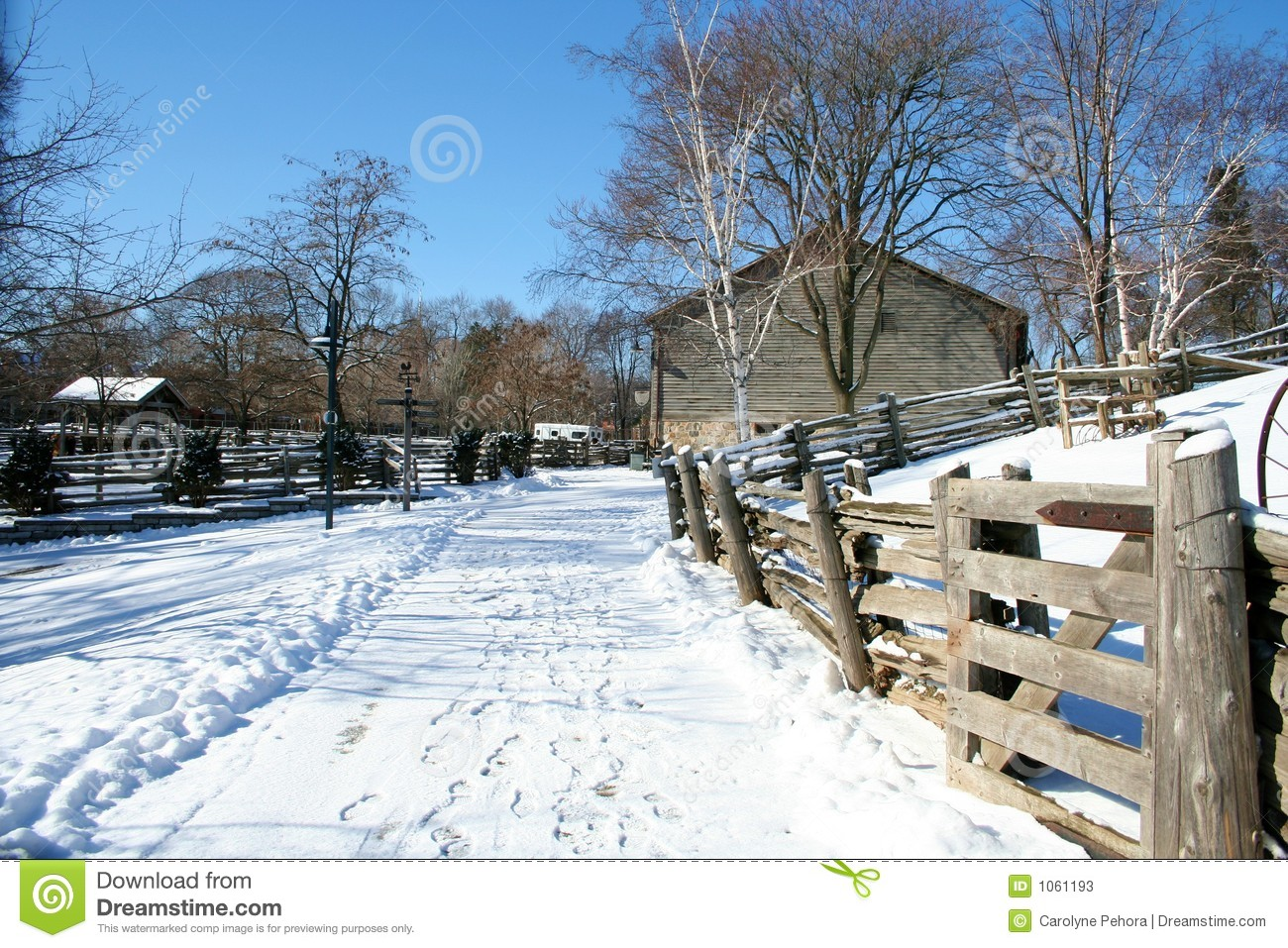 Farm In The Winter Stock Photos - Image: 1061193