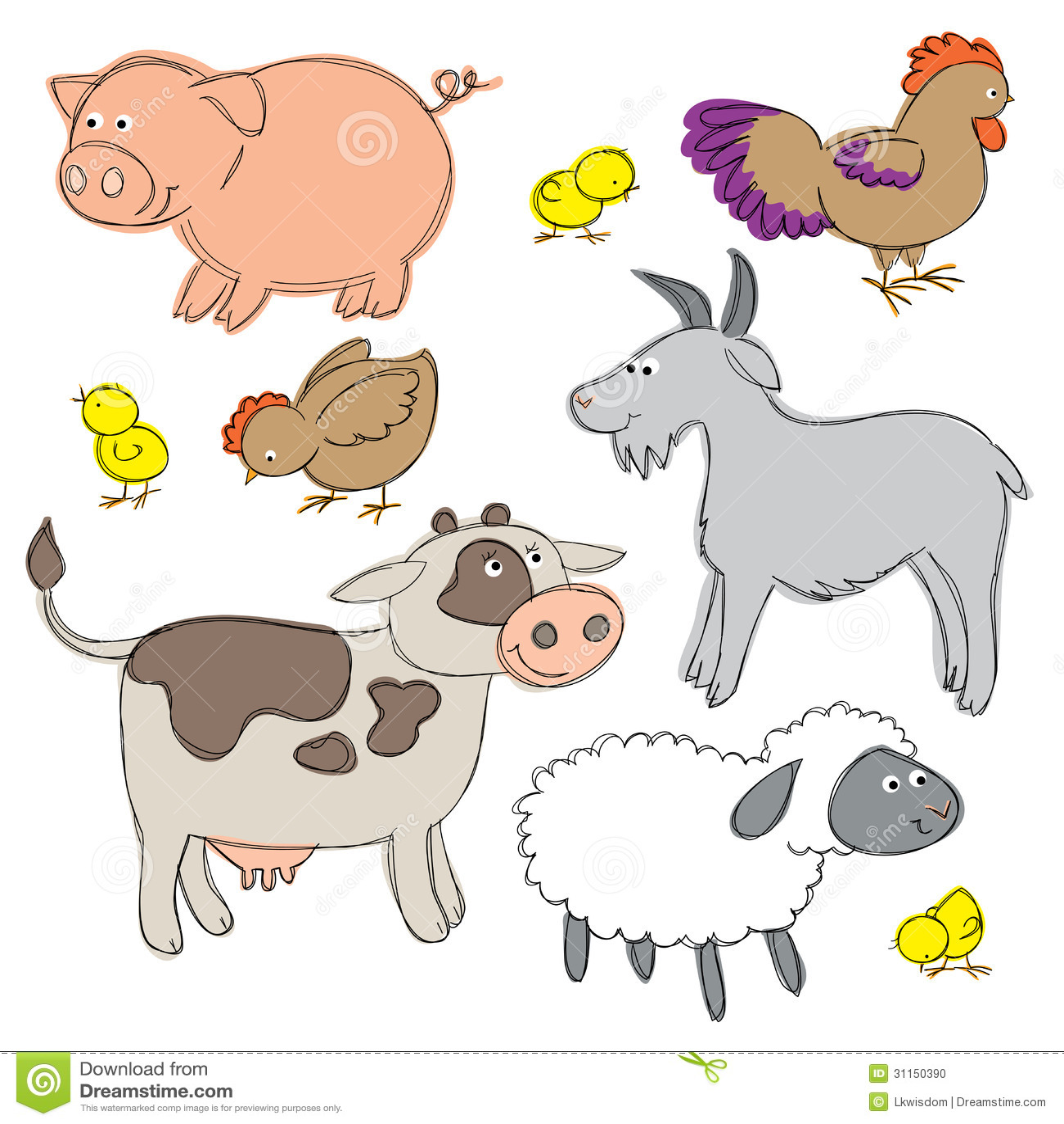 farm yard animals stock photo image 31150390
