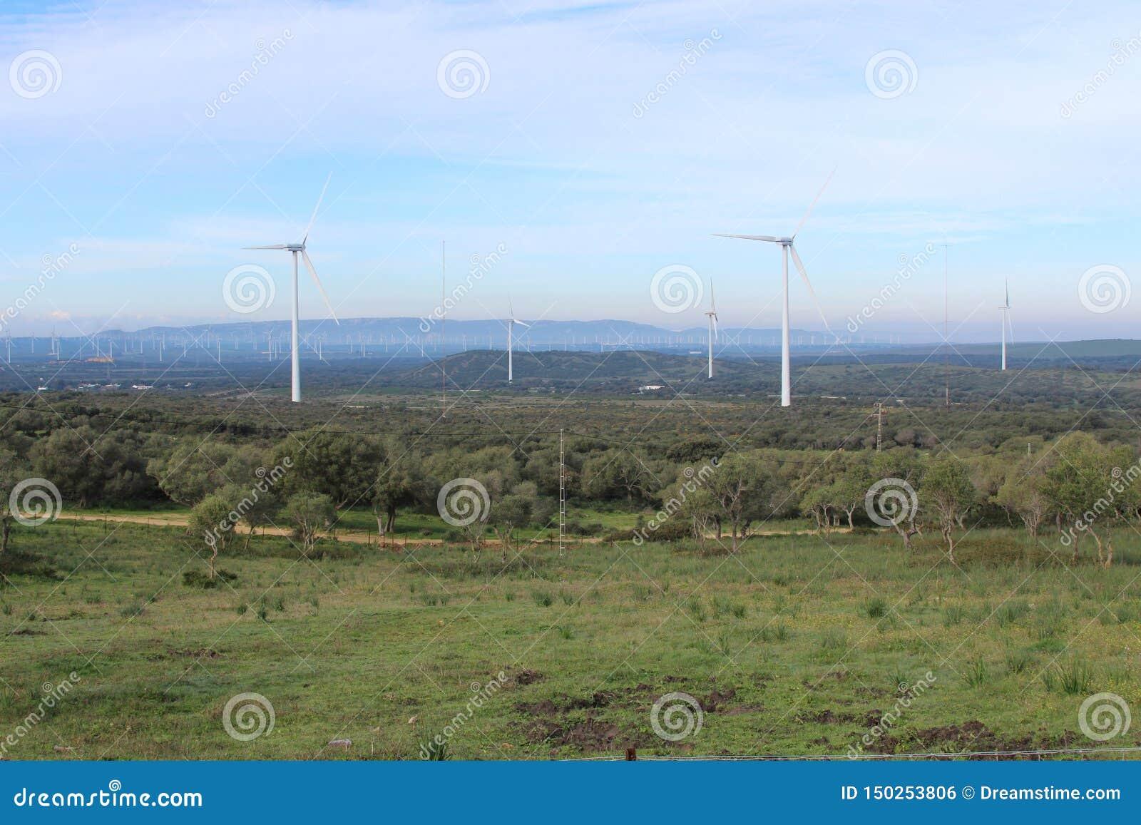 Farma wiatrowa Fascinas, Andalusia, Hiszpania