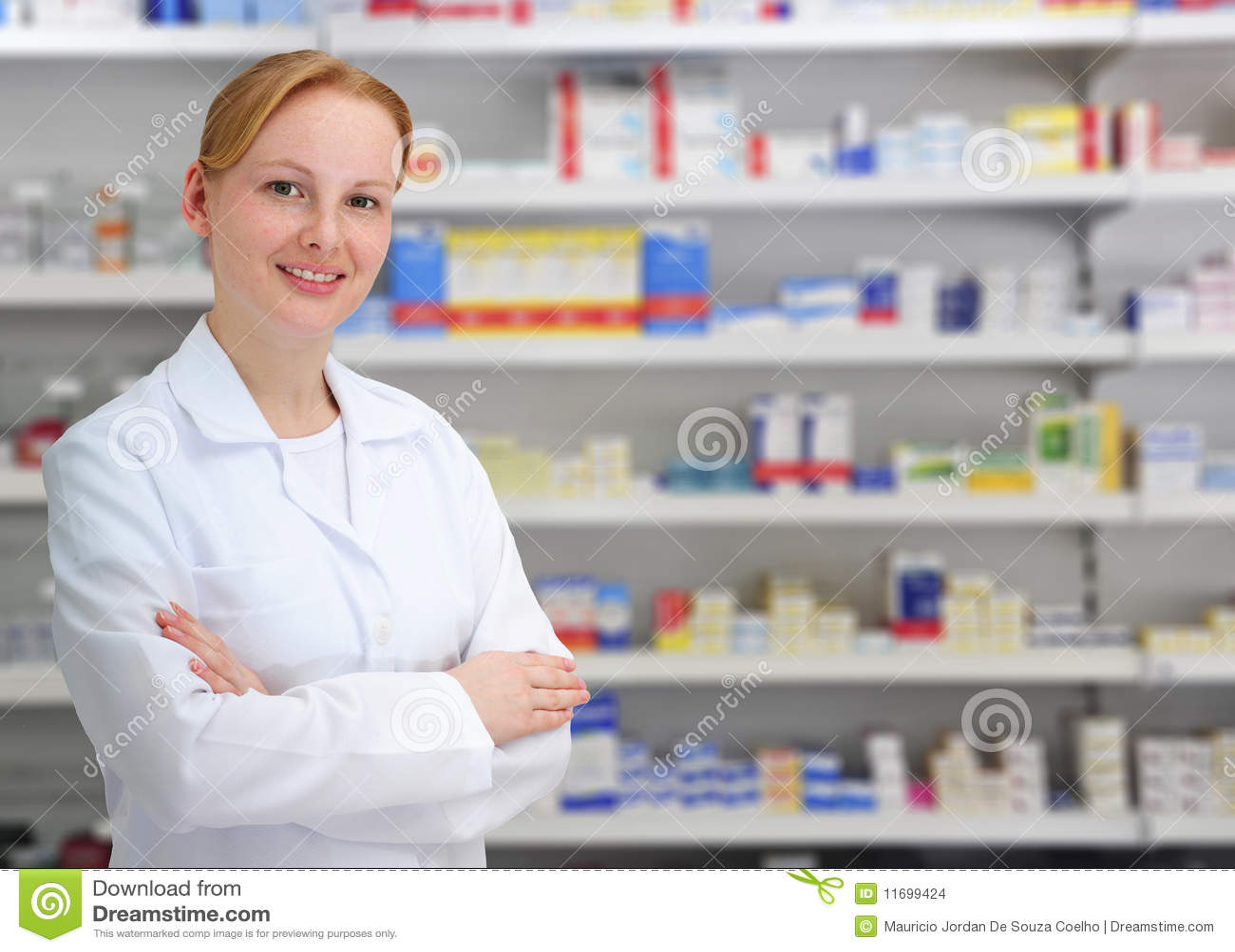 Farmaceuta żeński portret