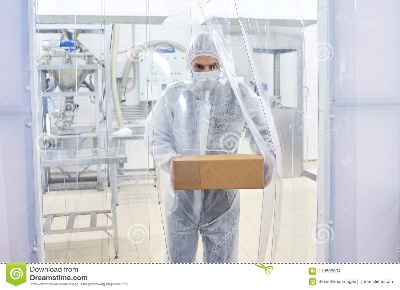 Farmaceutisk bärande ask för labbarbetare