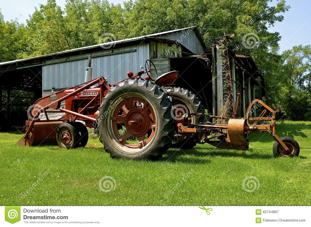 Tractor Brand Names : Farmall m tractor front end loader and lawn mower