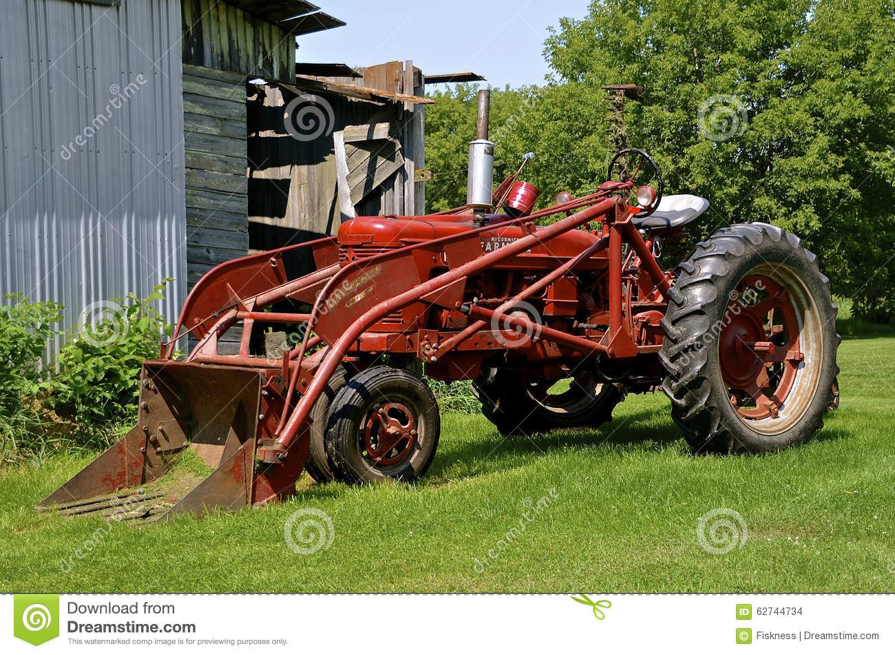 Vintage Tractor Front Loader : Farmall m tractor with front end loader editorial stock