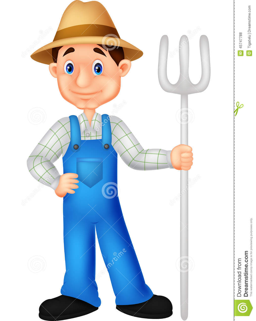 Farmer Cartoon Stock Vector - Image: 45747788