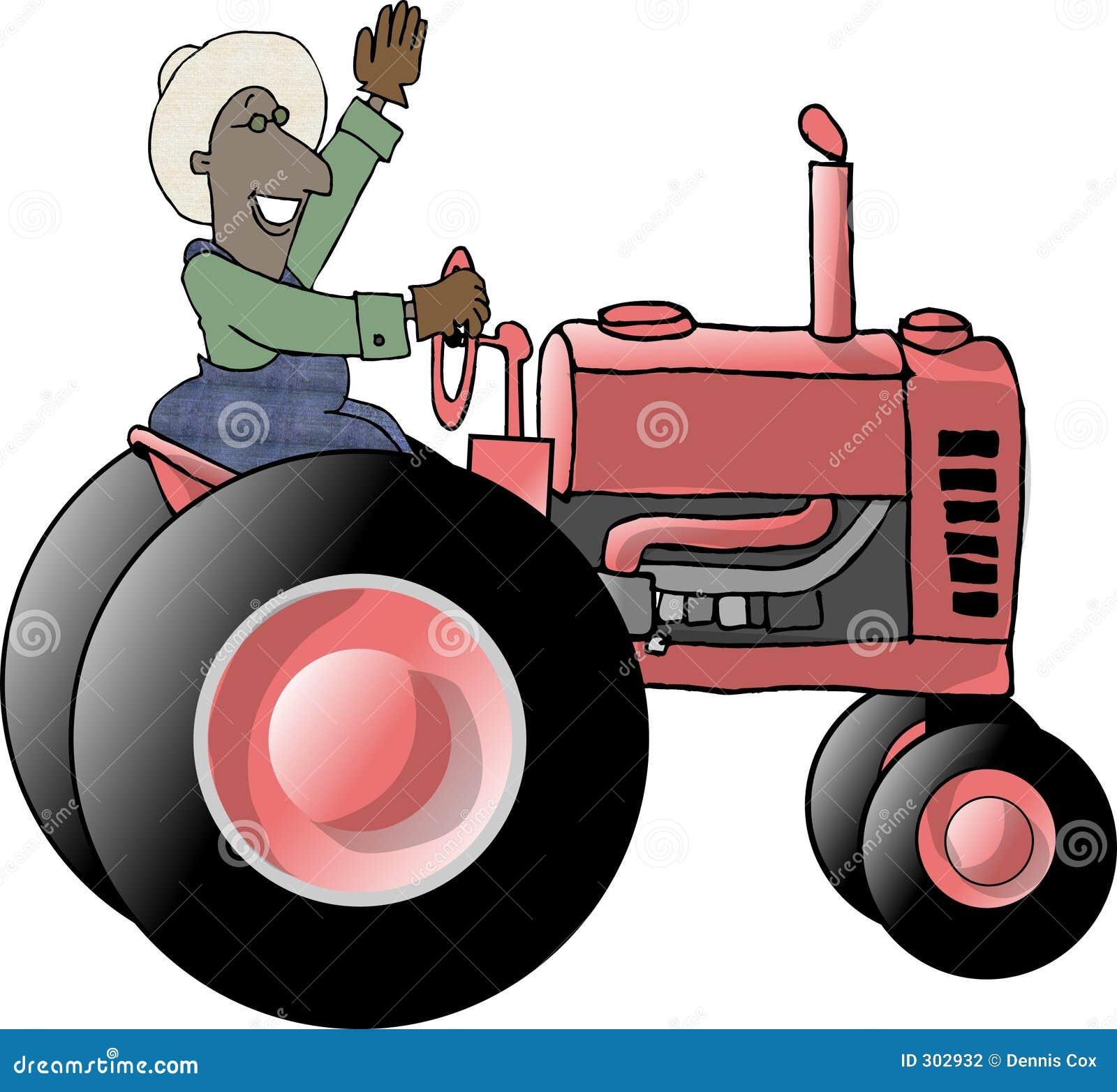 Farmer ciągnika