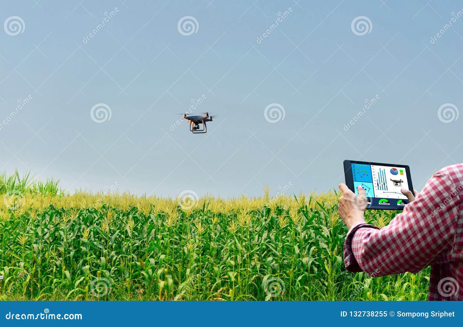 Farmer control unmanned aircraft Dorn Corn agricultural automation,digital farming
