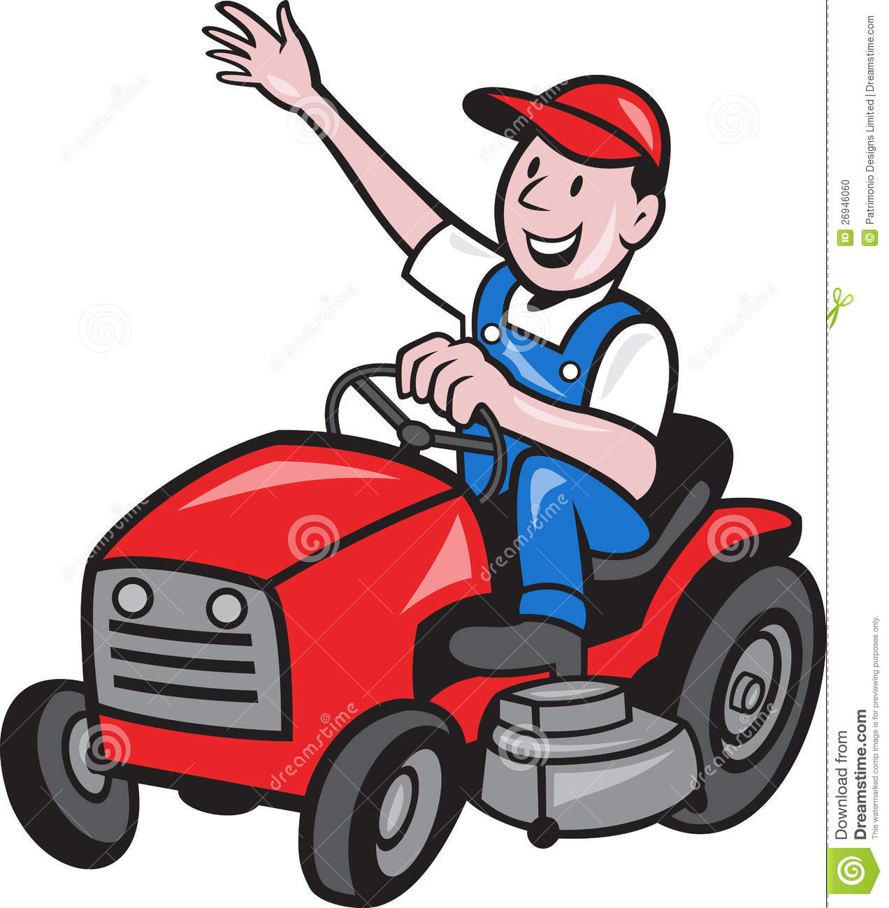 Riding Lawn Mower mower stock illustrations, vectors, & clipart ...