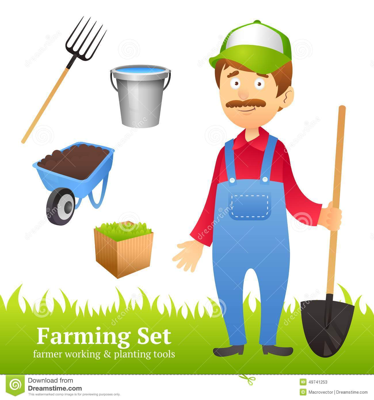 Farmer Man Avatar Stock Vector Image Of Collection