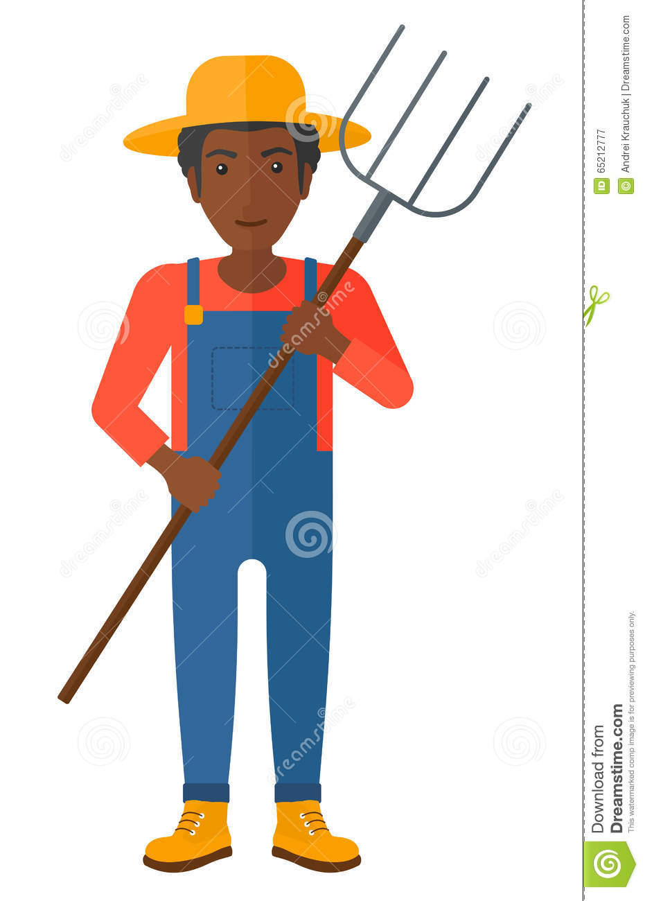 farmer with pitchfork stock vector image 65212777 farmer pitchfork clipart asu pitchfork clipart