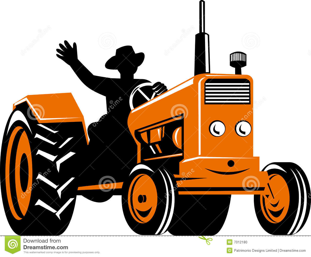 Farmer Riding A Tractor Stock Photo - Image: 7012180