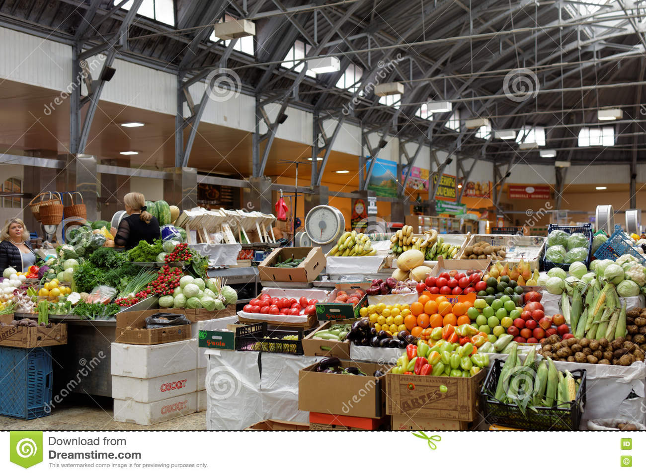 Farmer's Market Kuznechny In St  Petersburg, Russia Editorial Stock