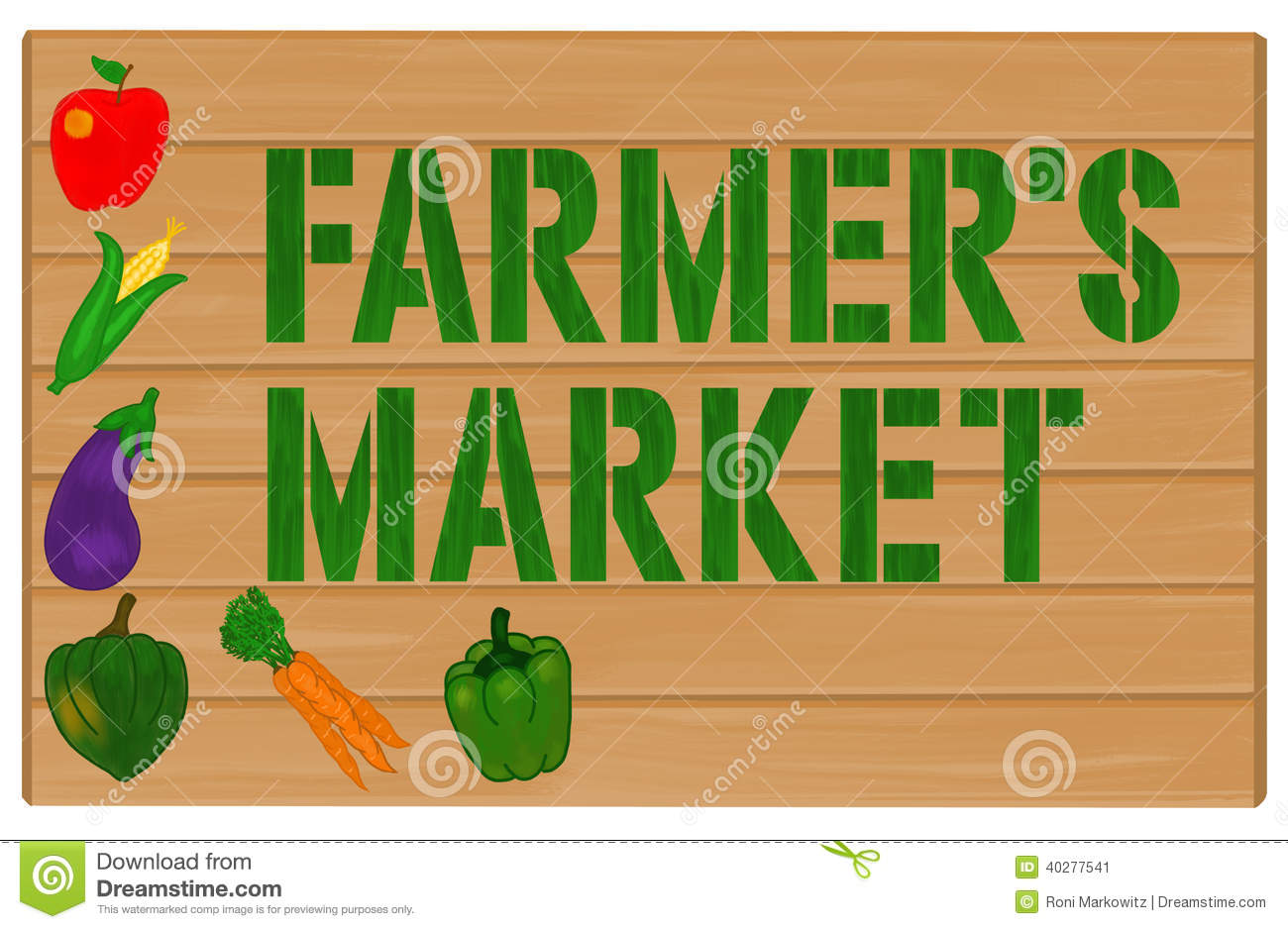 Clip Art Farmers Market Clipart farmers market stock illustrations 1252 vegetables and painted on wood sign image