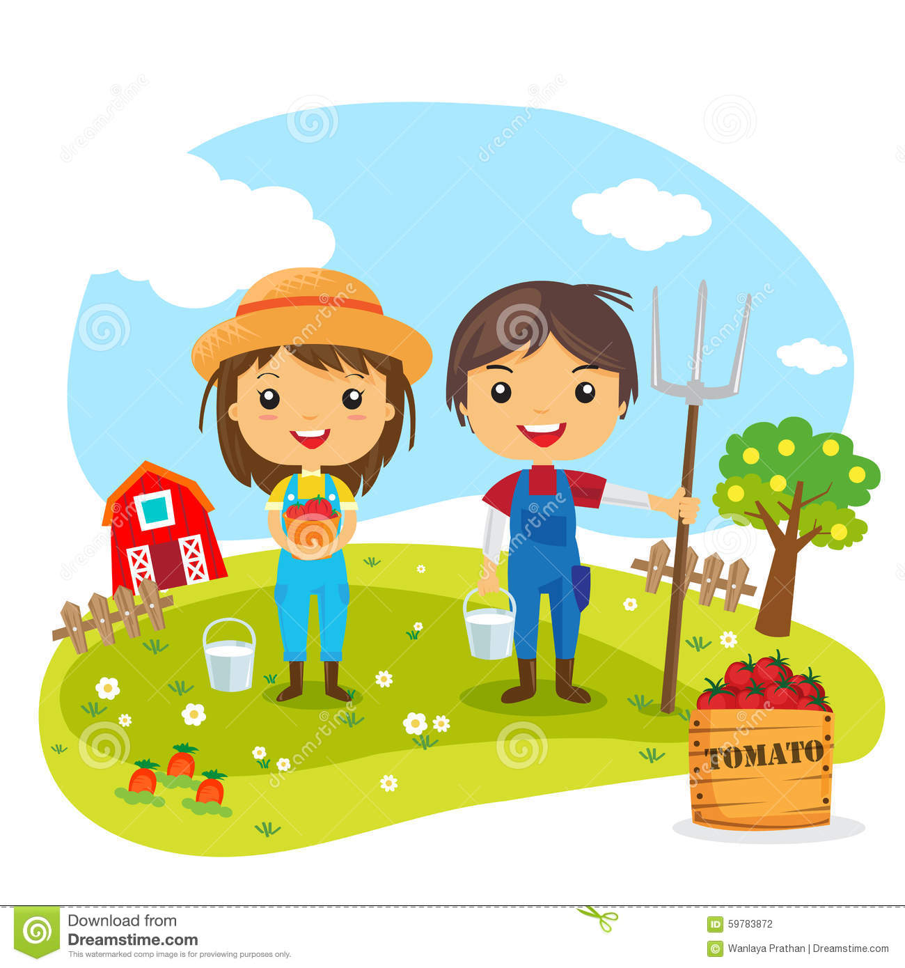 Image Result For Anime About Kids Working In Vegetable Garden