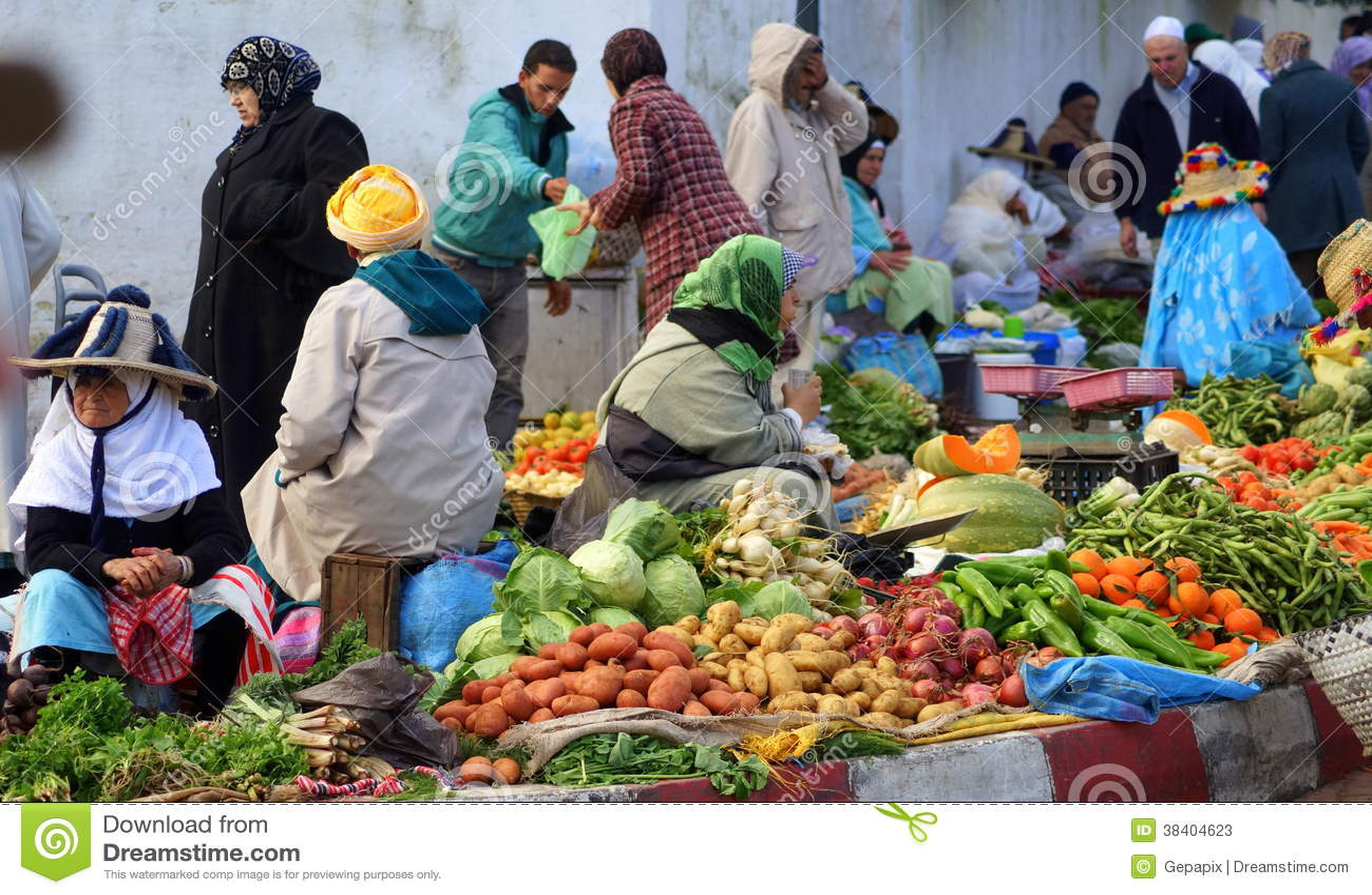 Farmers  Market in Tangier, Morocco