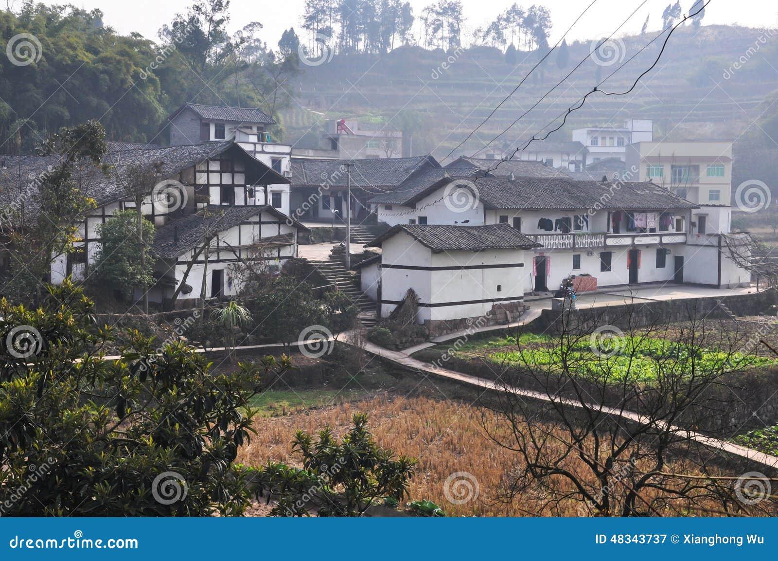 Farmhouse Chinese Villages Beautiful Landscape China