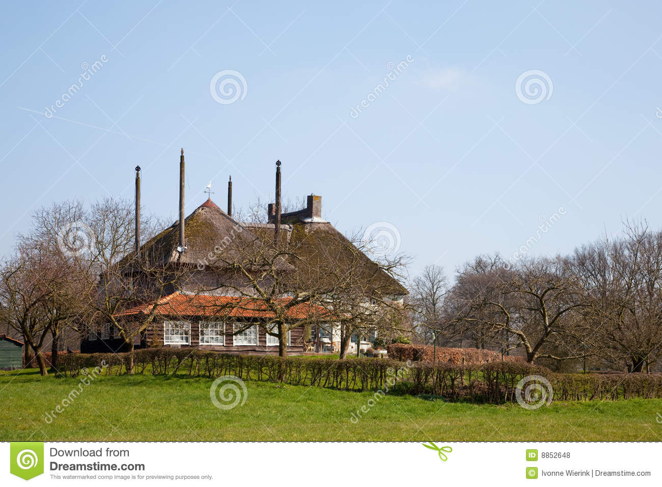 Farmhouse in dutch landscape royalty free stock photos for Farm house netherlands