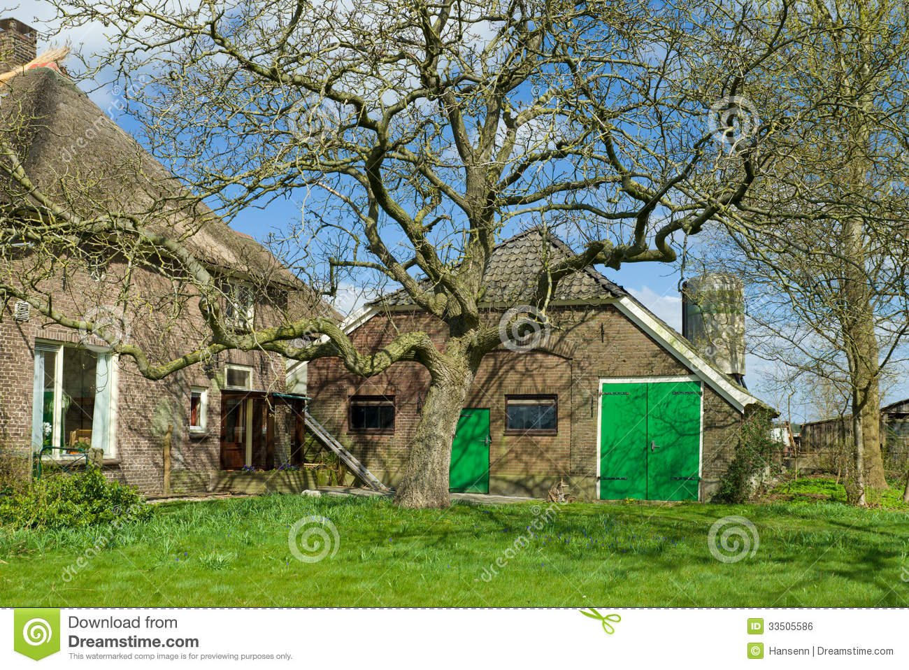 Farmhouse exterior royalty free stock image image 33505586 for Farm house netherlands