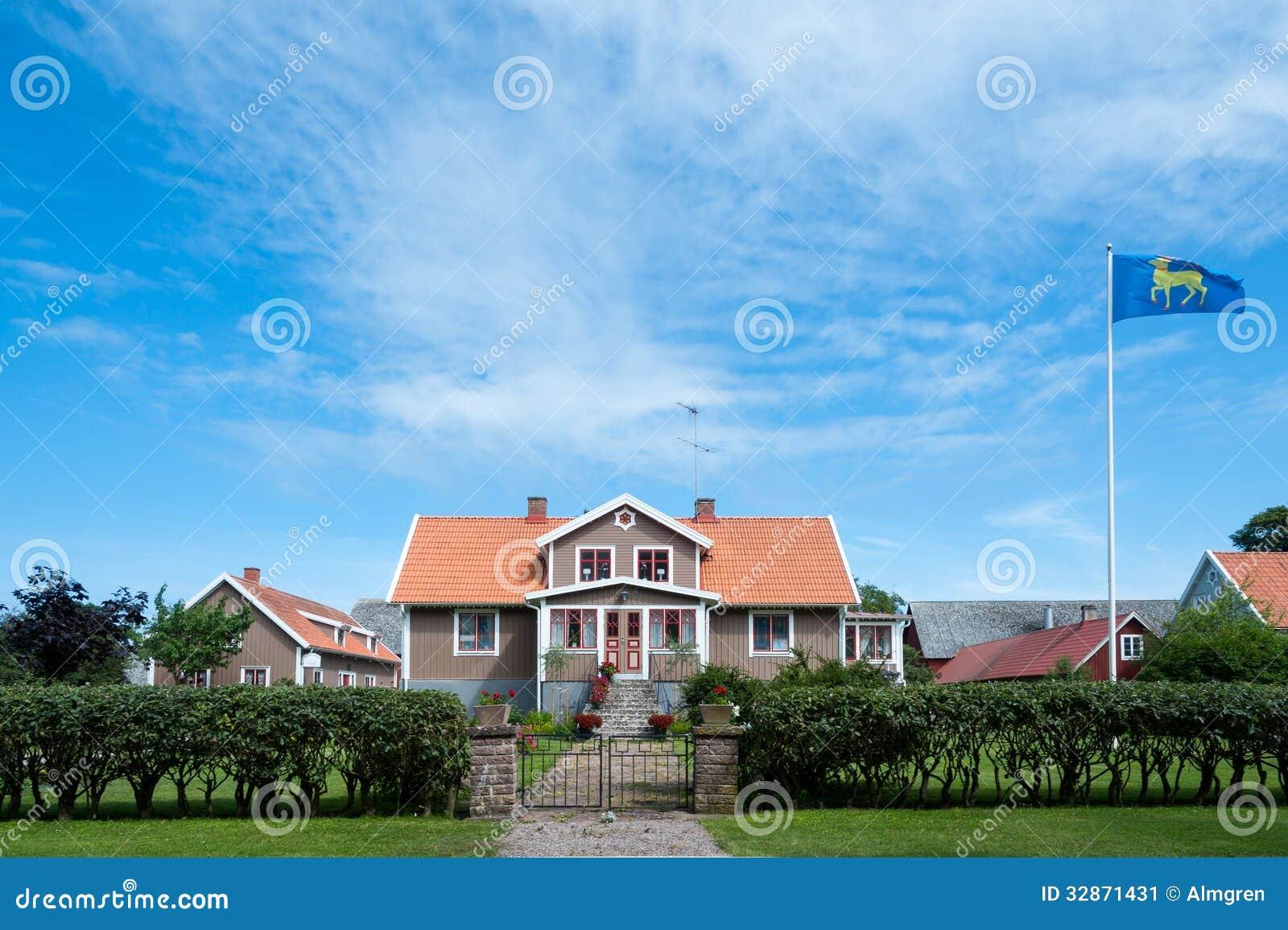 Farmhouse The Island Oeland Sweden Stock Image Image