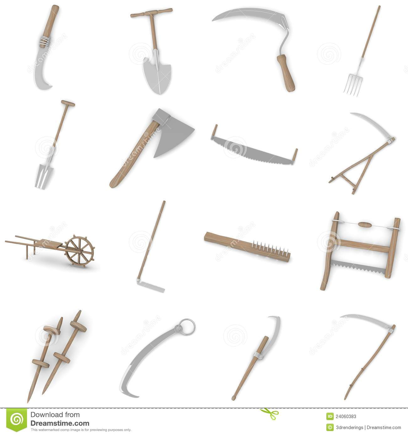 Farming Tools - 16 Stock Photos - Image: 24060383