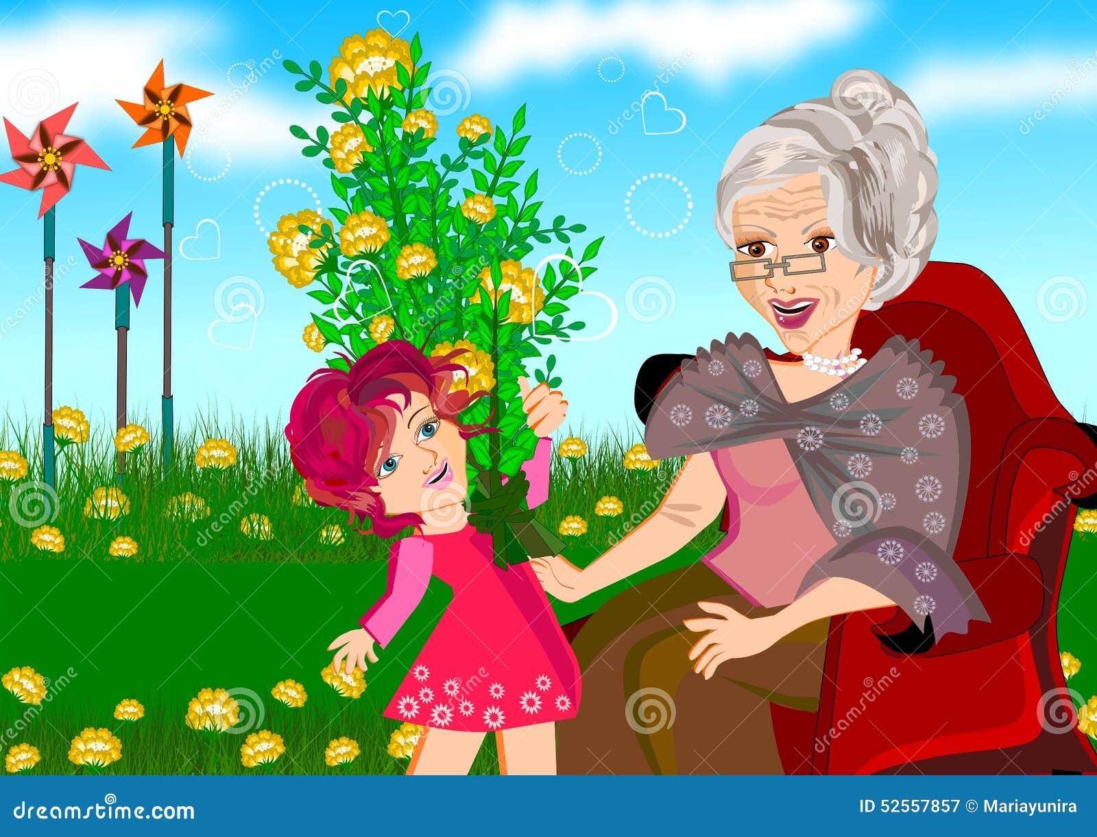 Farmor och sondotter