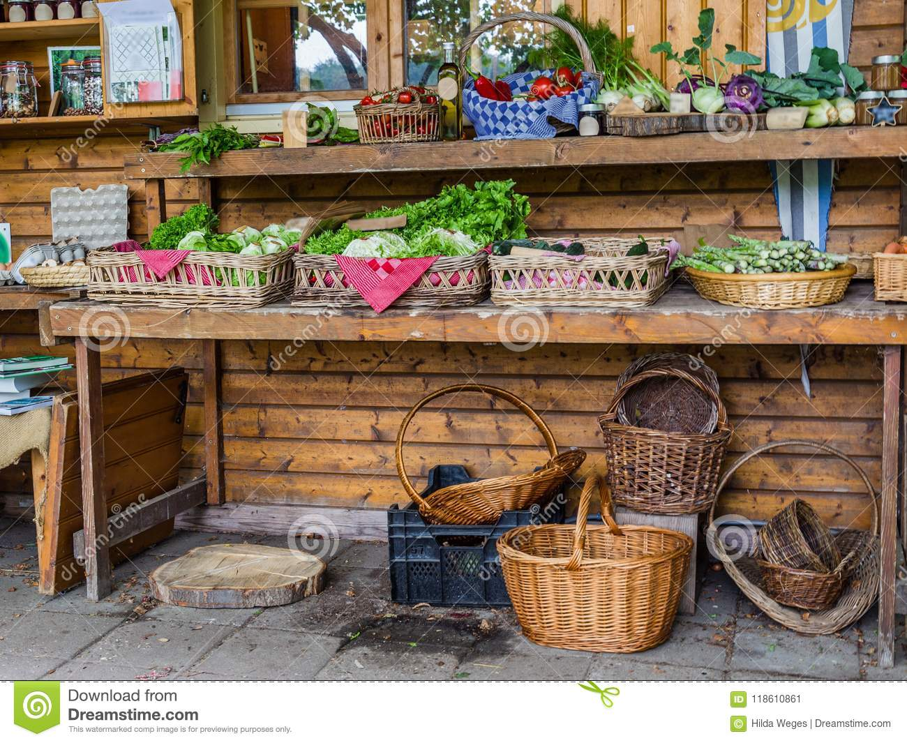 Farmshop With Local Products Stock Image - Image of farmer ...