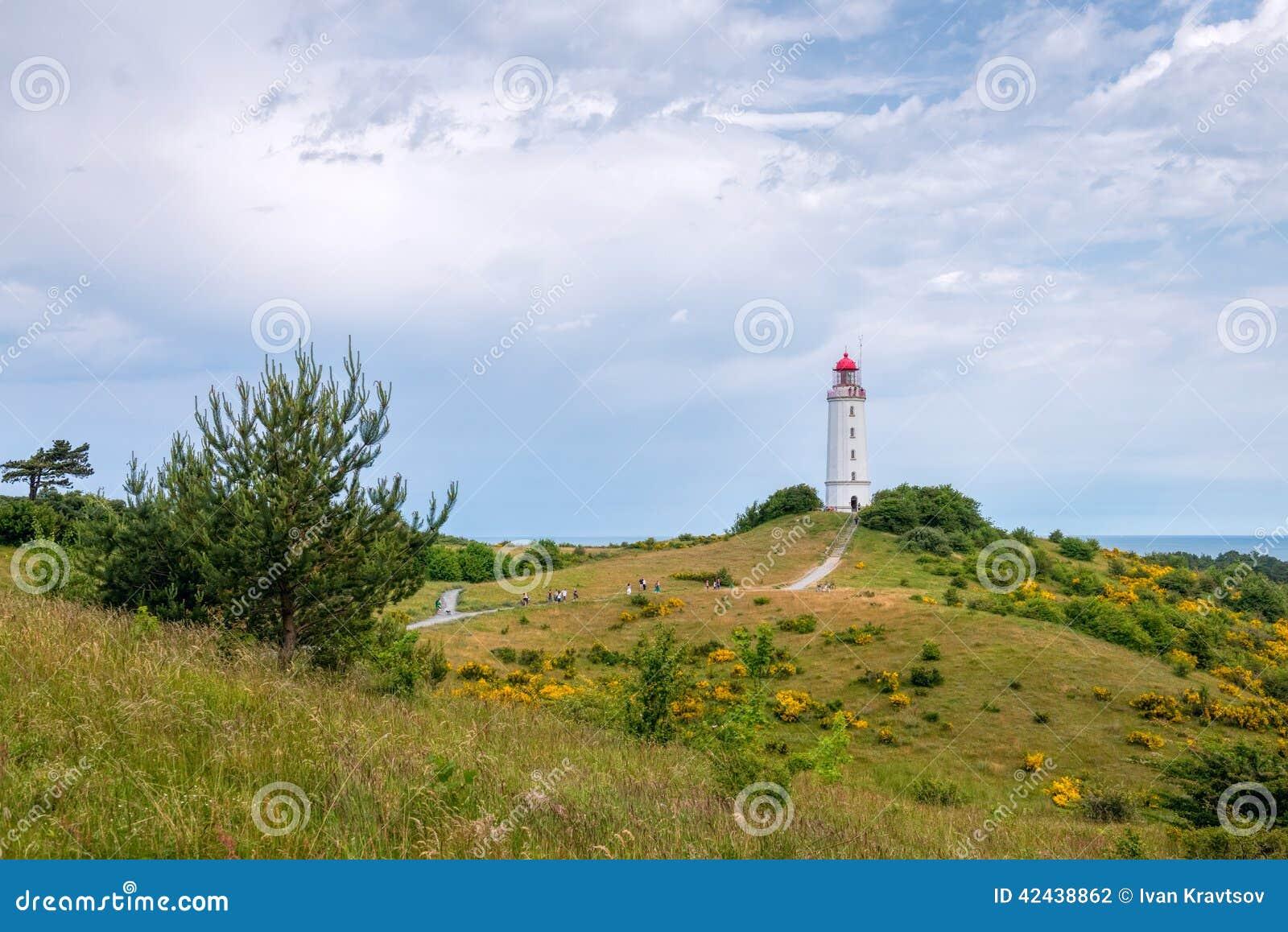 Faro de Dornbusch, isla de Hiddensee, Alemania