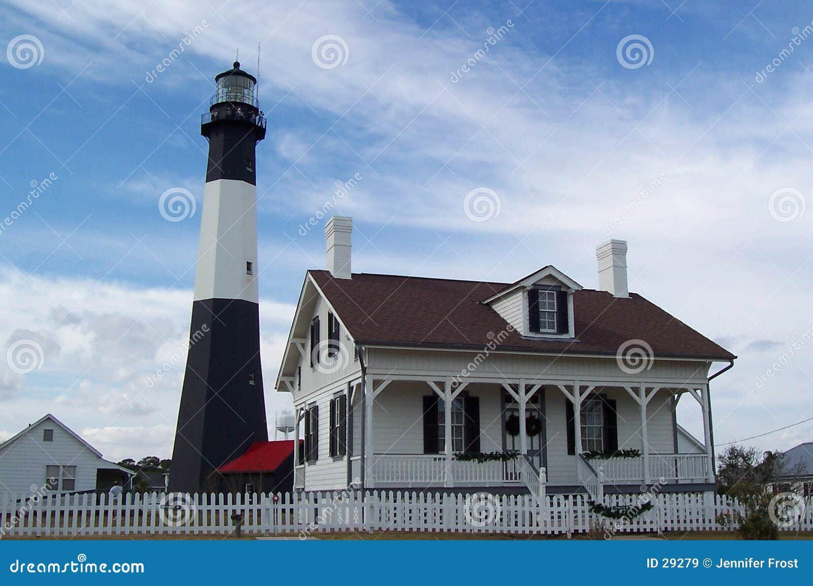 Download Faro de la isla de Tybee imagen de archivo. Imagen de casa - 29279