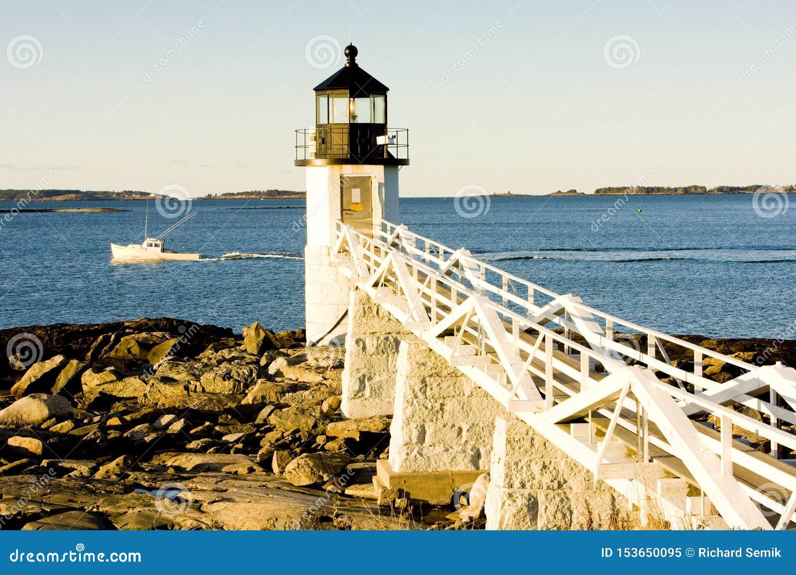 Faro de la punta de Marshall, Maine, los E