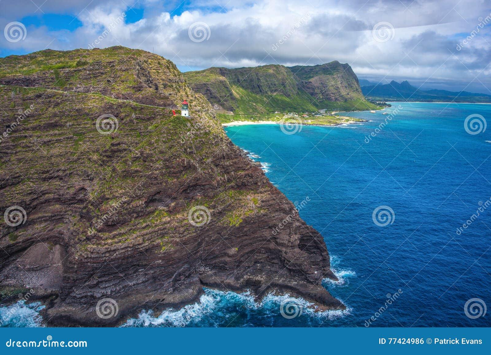 Faro de Makapuu y pista de senderismo Oahu, Hawaii