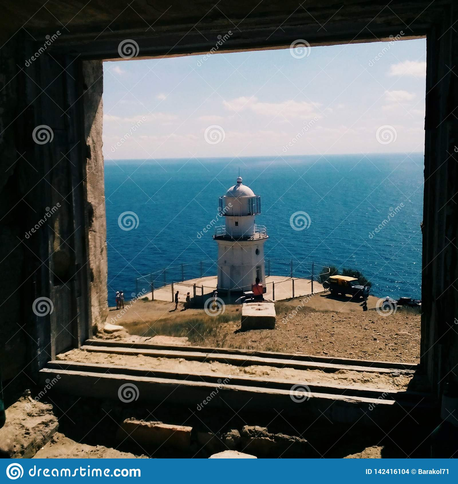Faro sul mare in Crimea