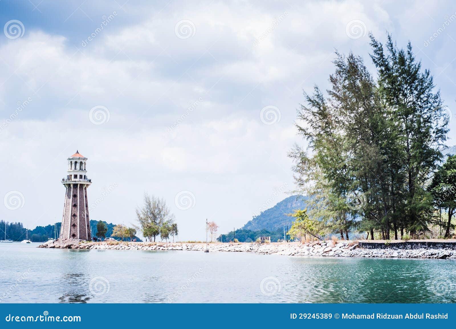 Download Farol imagem de stock. Imagem de água, céu, ásia, pedra - 29245389