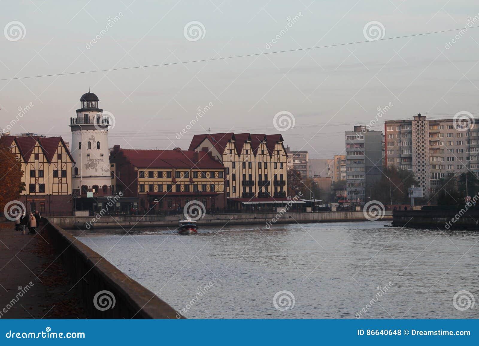 Farol da aldeia piscatória, Kaliningrad